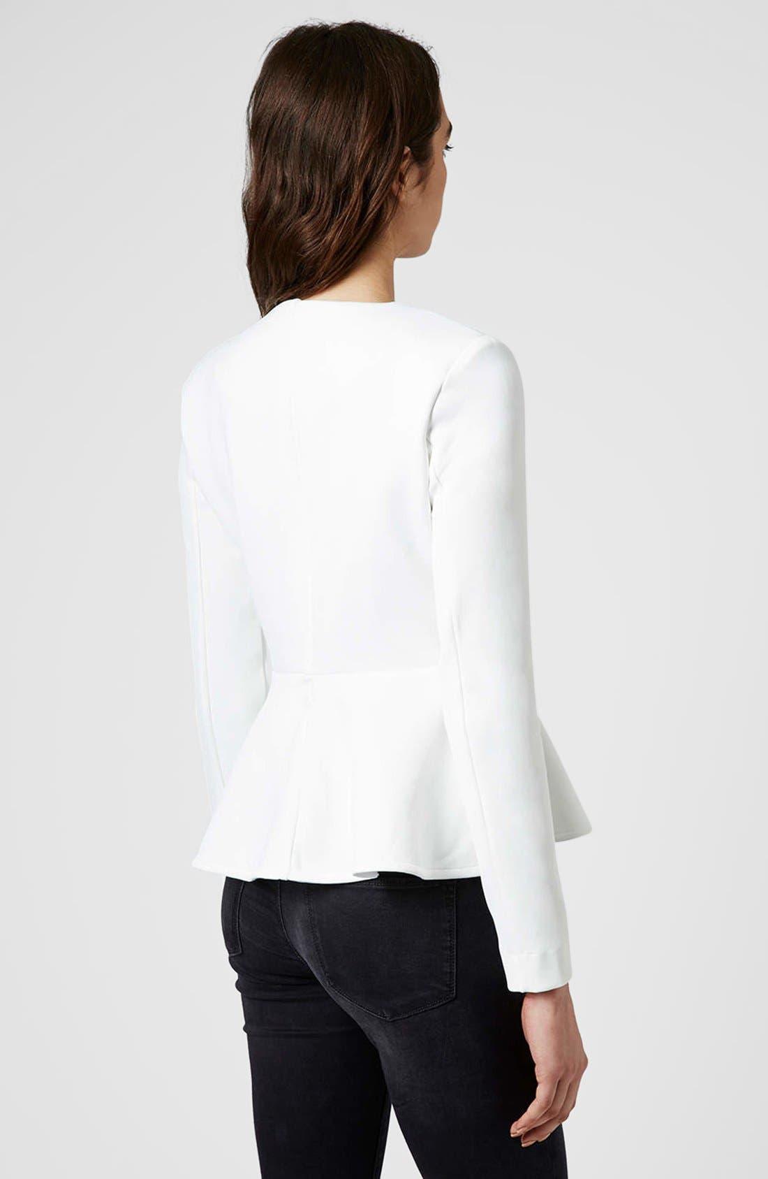 Alternate Image 2  - Topshop Tailored Peplum Jacket