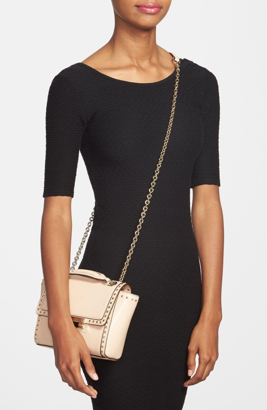 Alternate Image 2  - Diane von Furstenberg 'Mini 440' Stud Leather Crossbody Bag