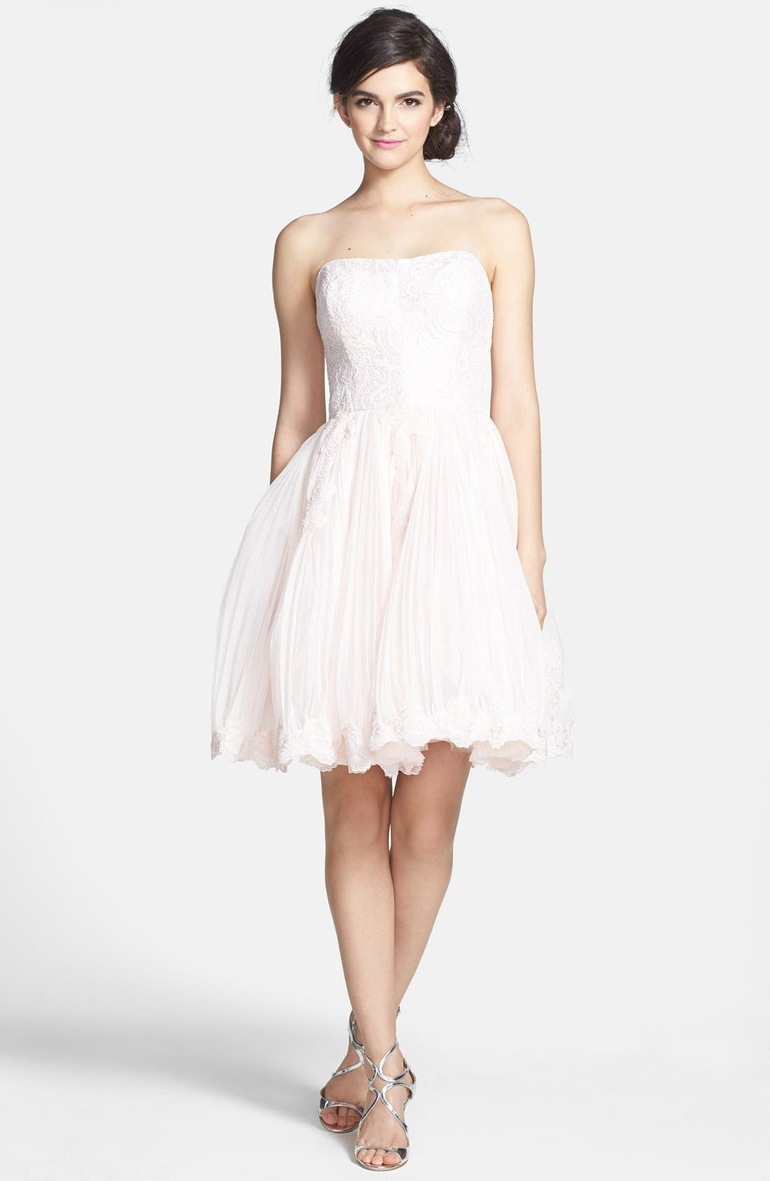 Alternate Image 3  - Ted Baker London 'Raul' Embroidered Lace Fit & Flare Dress
