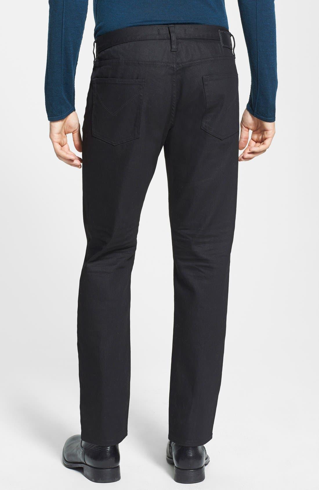 Alternate Image 2  - John Varvatos Star USA 'Bowery' Slim Straight Leg Jeans (Jet Black)