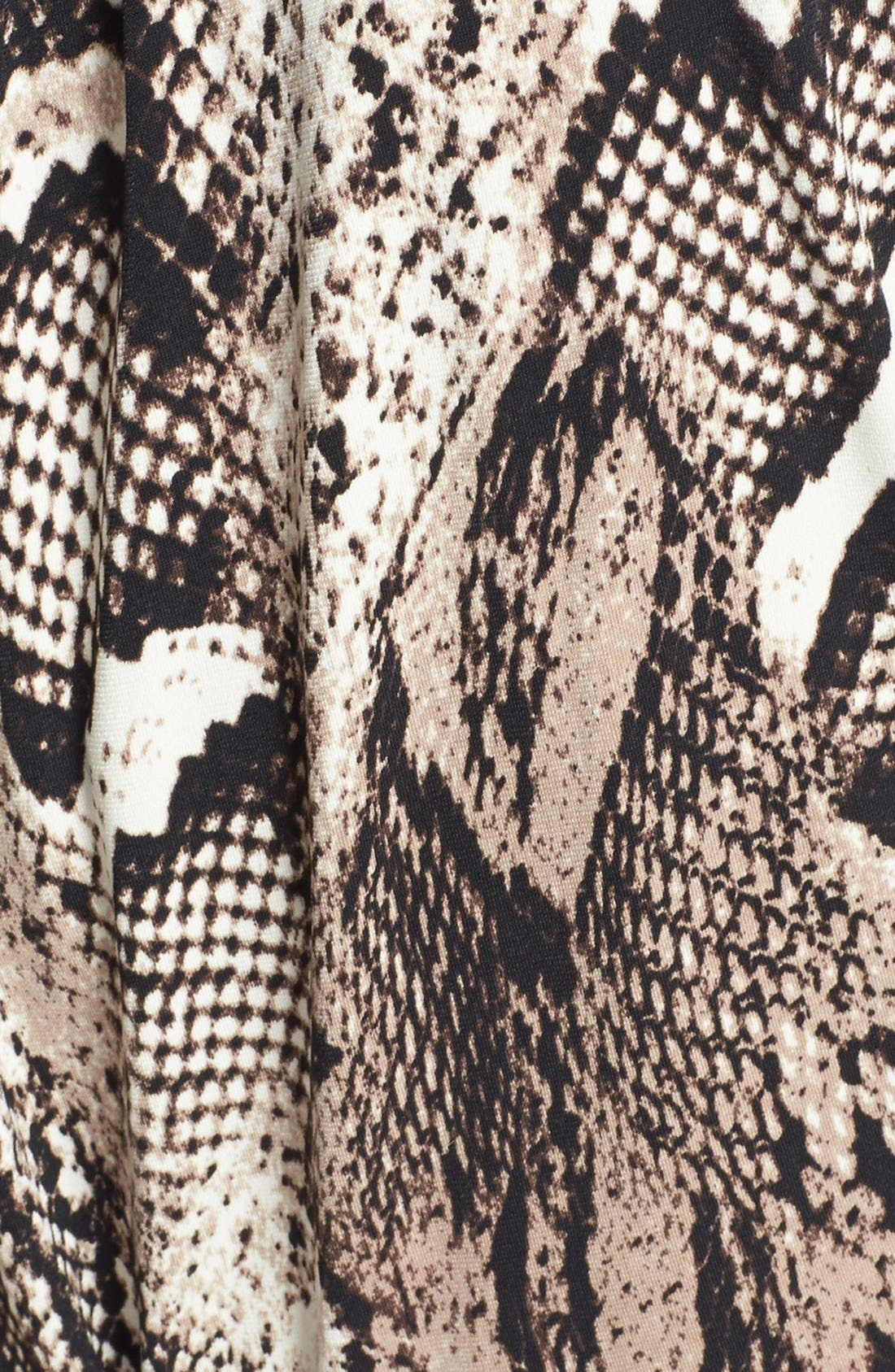 Alternate Image 4  - Donna Morgan Snakeskin Print Faux Wrap Jersey Dress