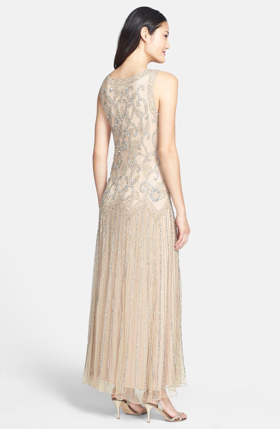 Alternate Image 2  - Pisarro Nights Embellished Mesh Dress (Regular & Petite)