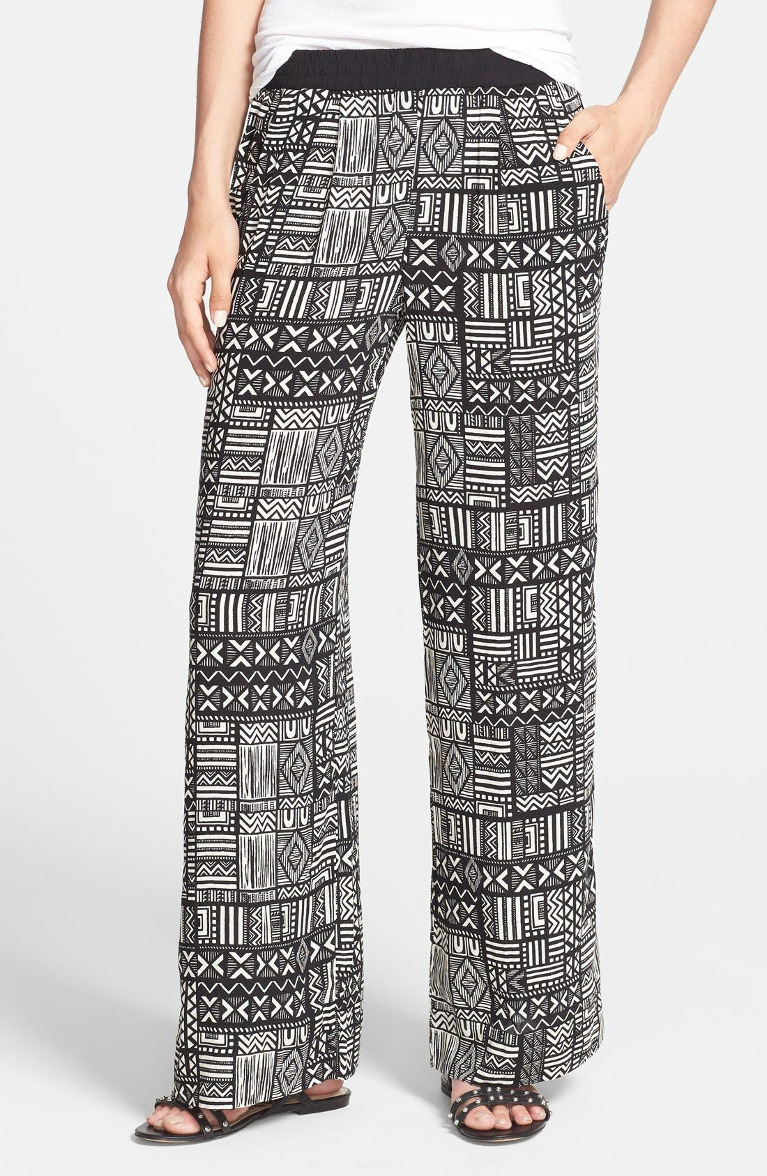 Alternate Image 1 Selected - Sanctuary Print Palazzo Pants