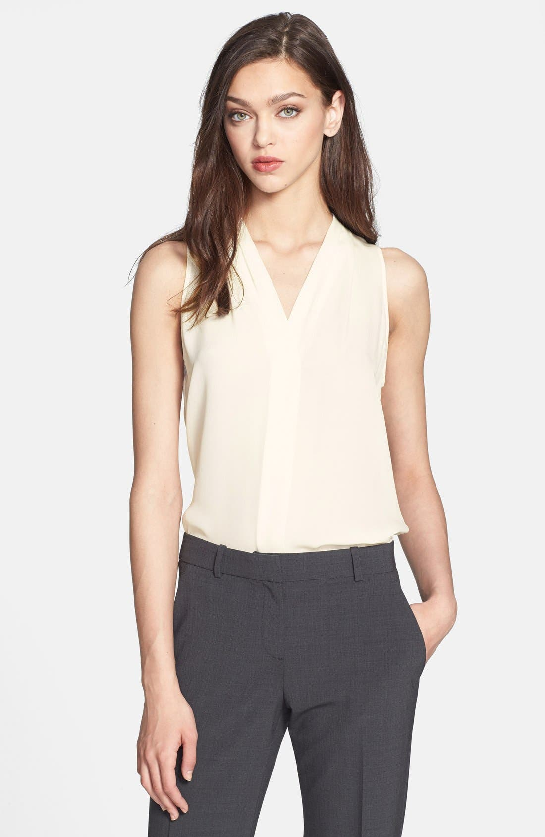 Alternate Image 1 Selected - Theory 'Hylin' Silk Top