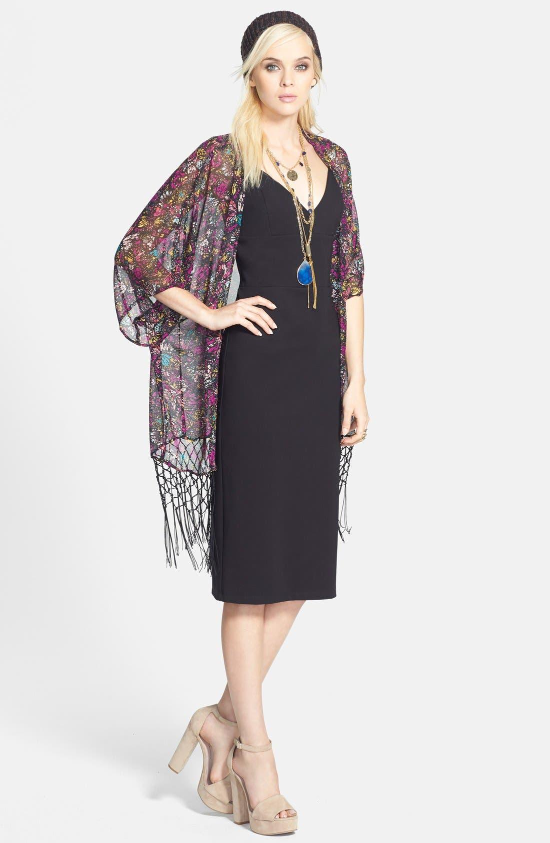 Alternate Image 4  - WAYF Floral Kimono Sleeve Cardigan