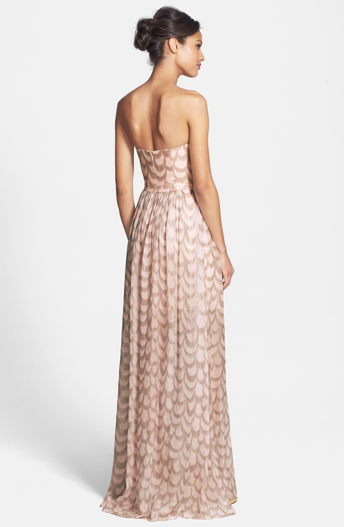 Alternate Image 2  - ERIN erin fetherston 'Chloe' Foiled Chiffon Gown