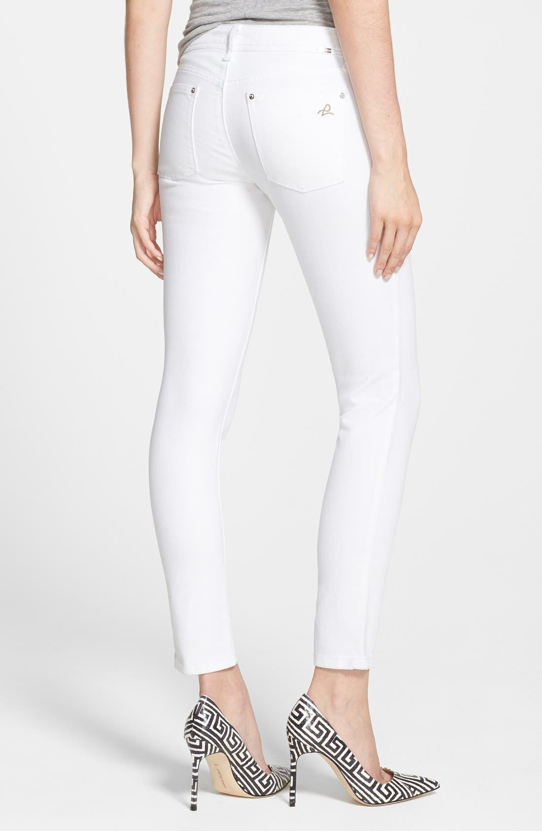 Alternate Image 2  - DL1961 'Emma' Power Legging Jeans (Milk)
