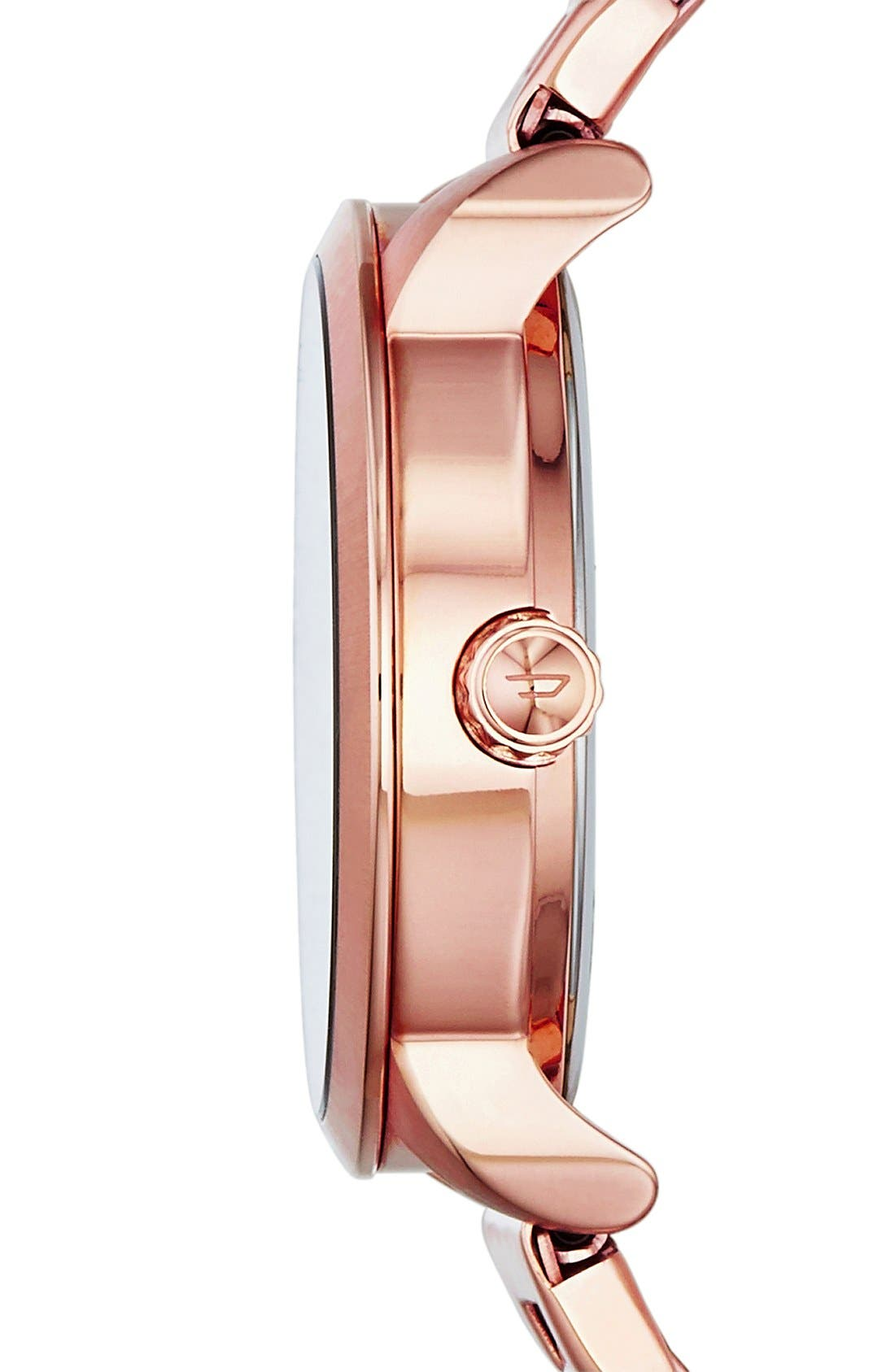 Alternate Image 2  - DIESEL® 'Flare' Textured Dial Bracelet Watch, 38mm
