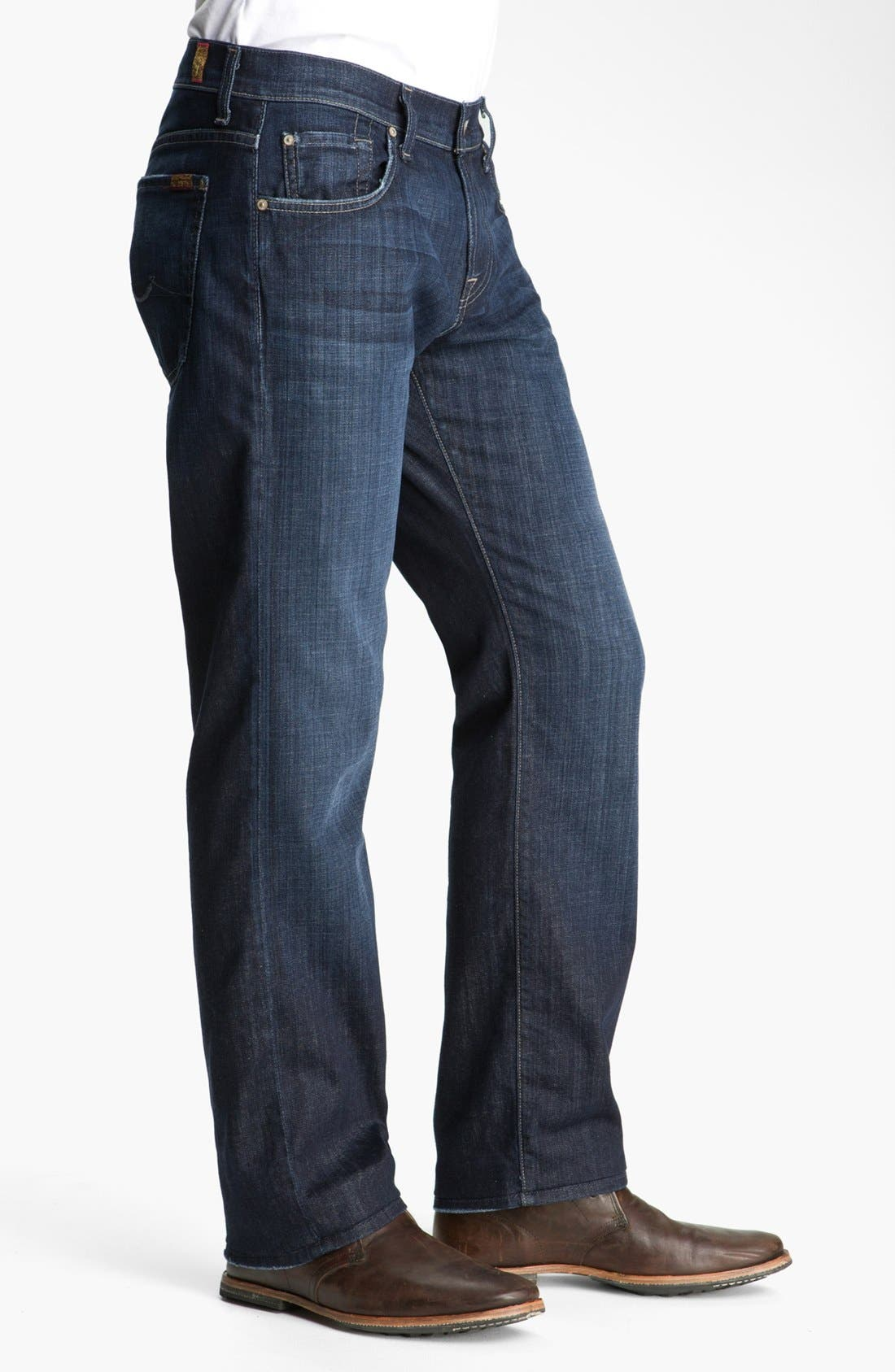Alternate Image 3  - 7 For All Mankind® 'Austyn' Relaxed Straight Leg Jeans (Los Angeles Dark) (Tall)