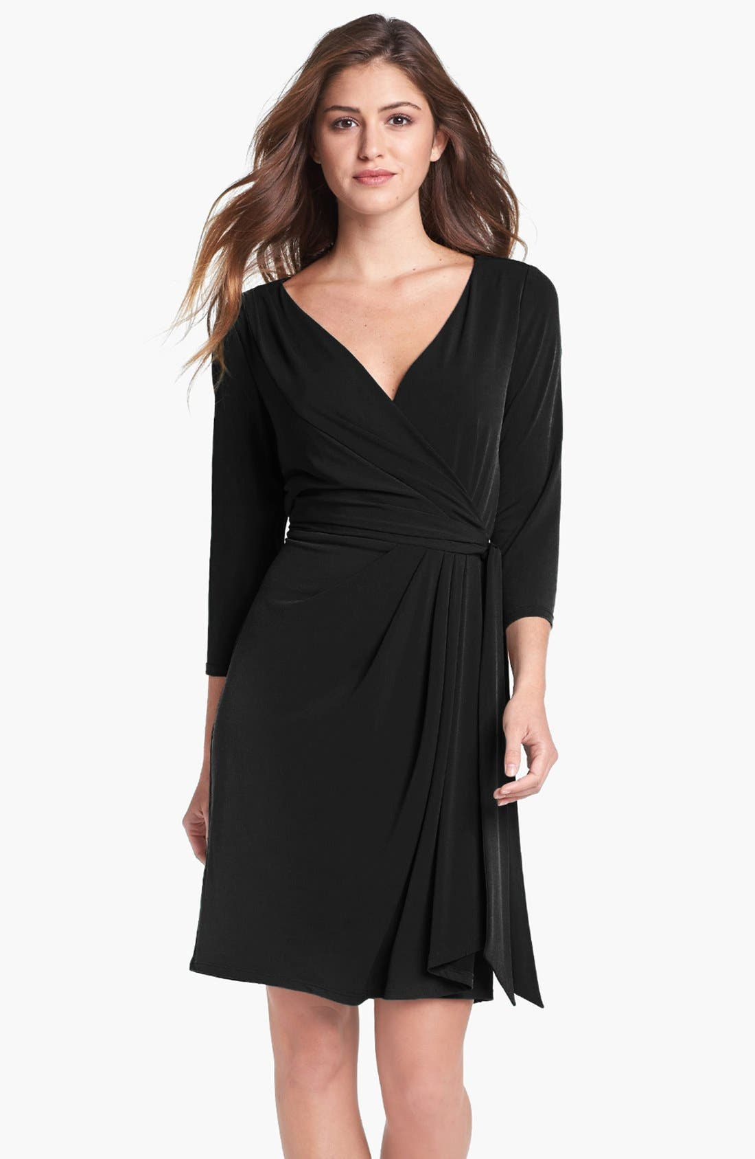 Main Image - Ivy & Blu Jersey Faux Wrap Dress