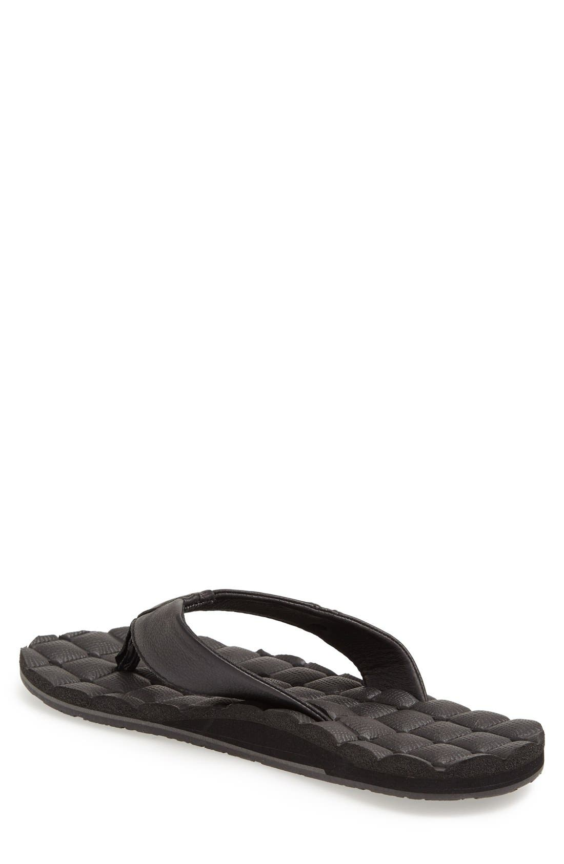 Alternate Image 2  - Volcom 'Recliner' Leather Flip Flop (Men)