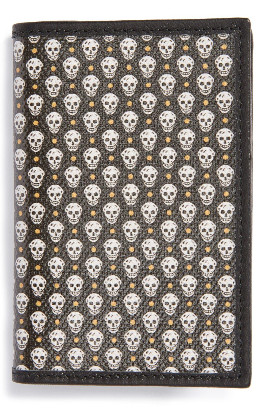 Main Image - Alexander McQueen Skull Print Leather Card Holder