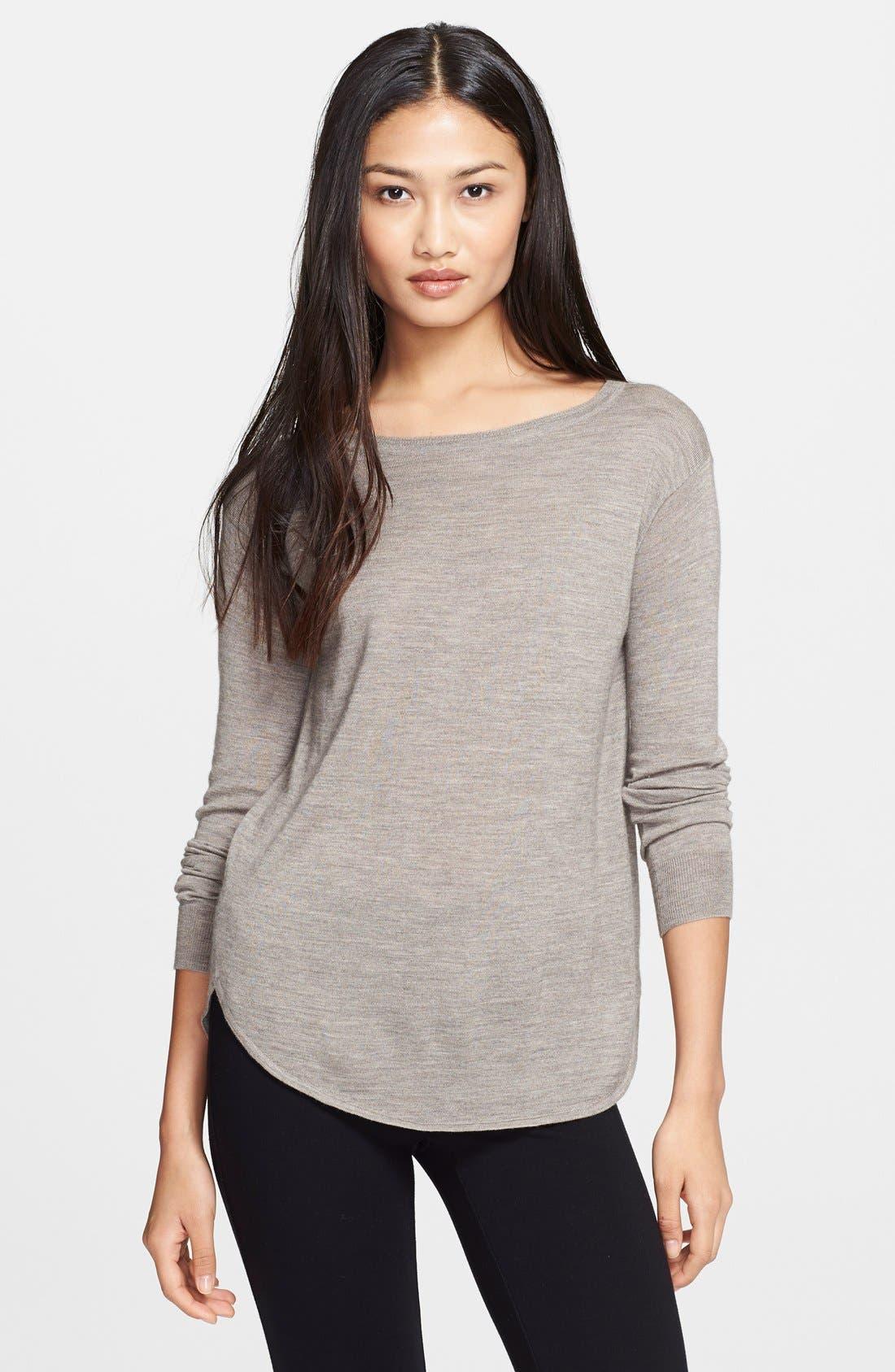 Alternate Image 1 Selected - Theory 'Landran' Wool & Silk Sweater