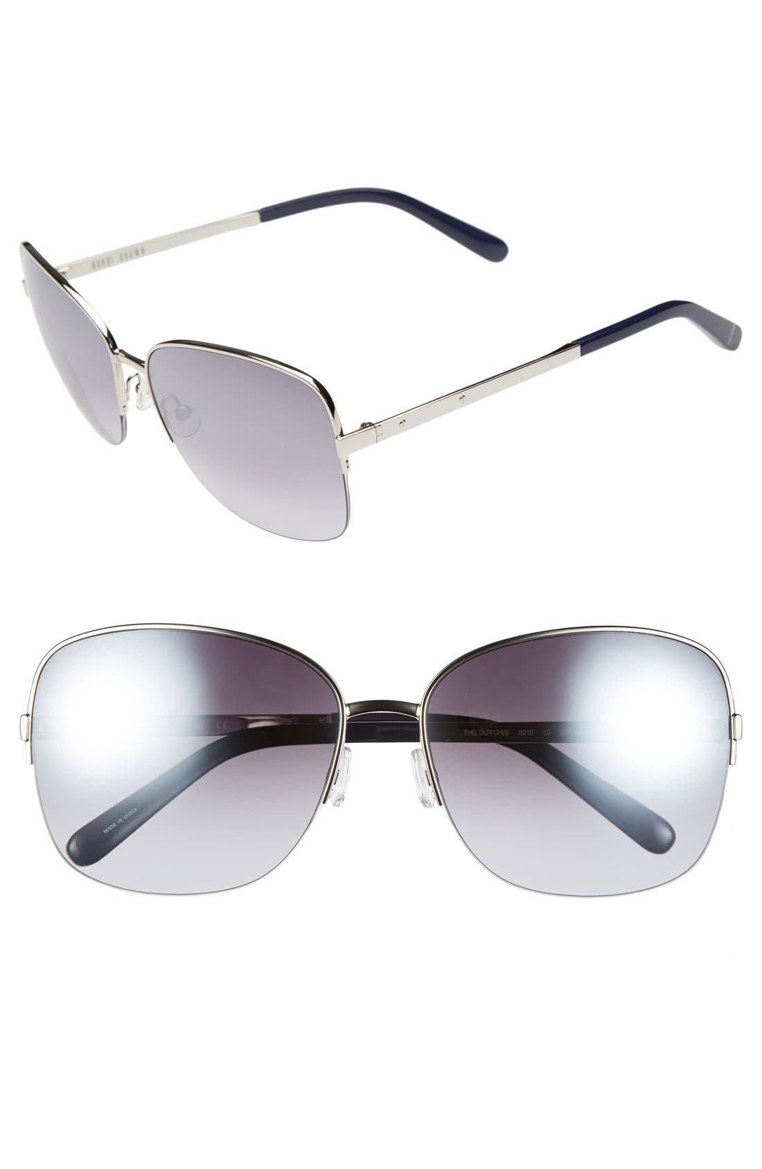 Alternate Image 1 Selected - Bobbi Brown 60mm Semi-Rimless Sunglasses