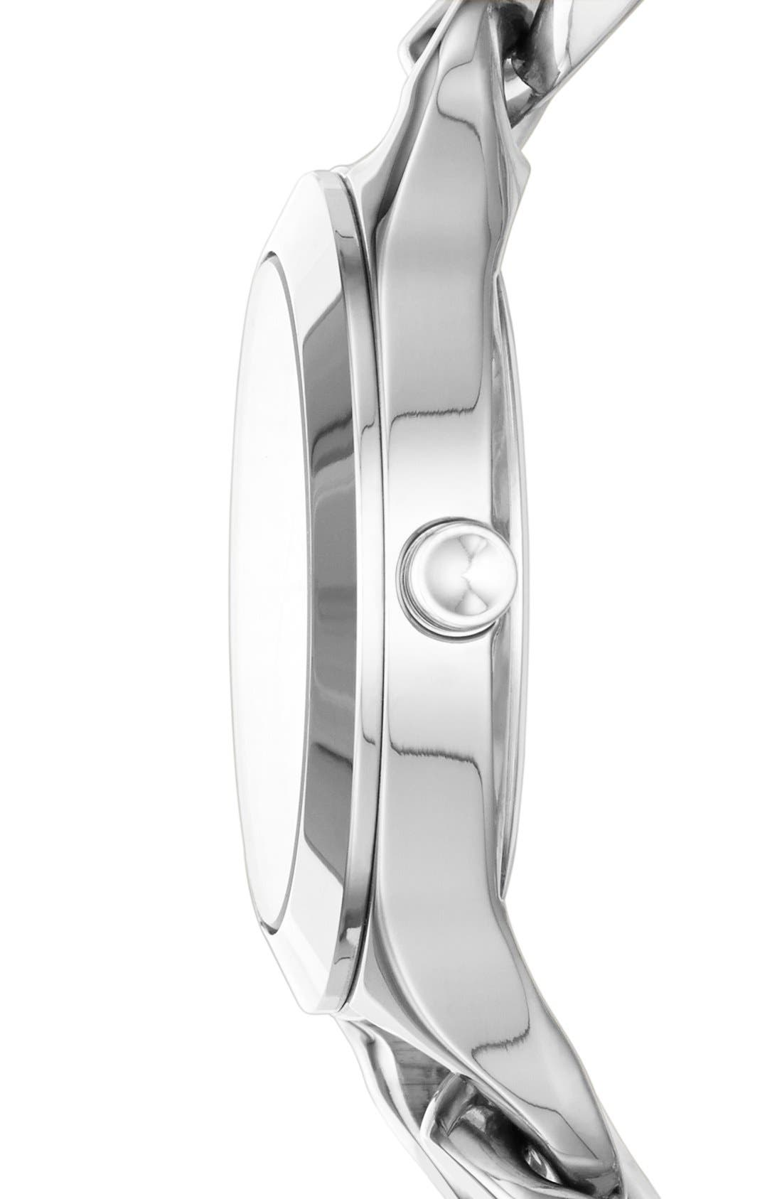 Alternate Image 2  - DKNY 'Chambers' Round Chain Bracelet Watch, 36mm
