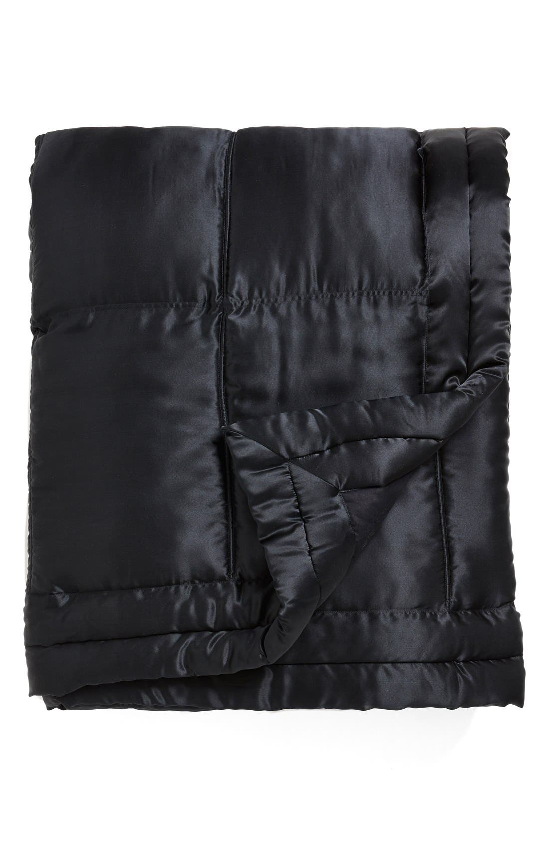 Donna Karan Collection 'Impression' Silk Charmeuse Quilt,                         Main,                         color, Ebony Black
