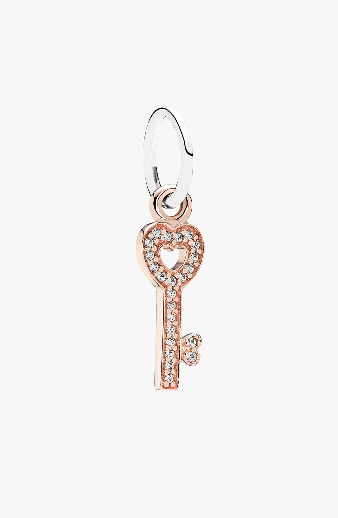 Alternate Image 1 Selected - PANDORA 'Symbol of Trust' Pavé Key Dangle Charm