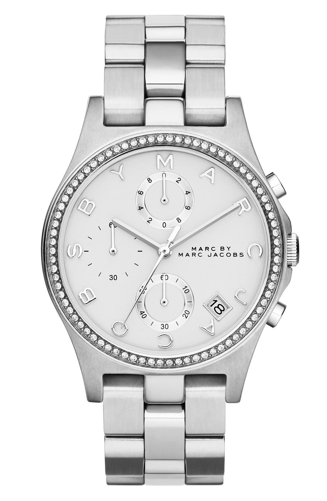 Alternate Image 1 Selected - MARC JACOBS 'Henry' Chronograph Bracelet Watch, 37mm (Nordstrom Exclusive)
