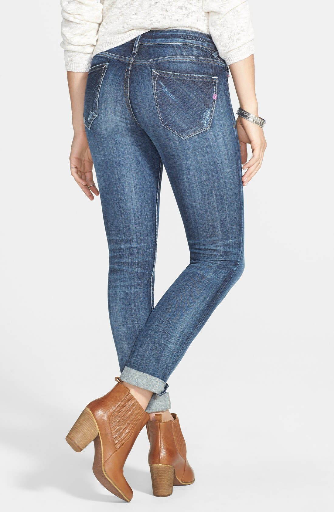 Alternate Image 2  - Vigoss 'Thompson Tomboy' Crop Jeans (Medium Wash)