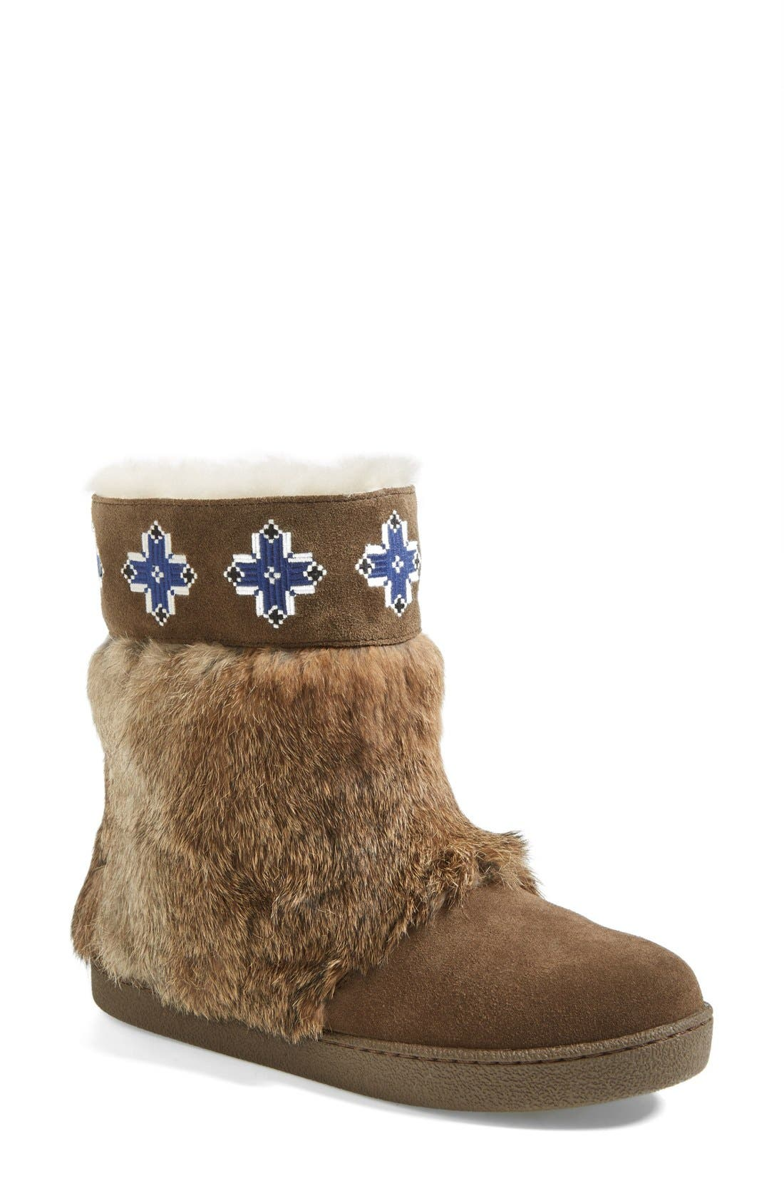 Main Image - Tory Burch 'Lafayette' Embroidered Bootie