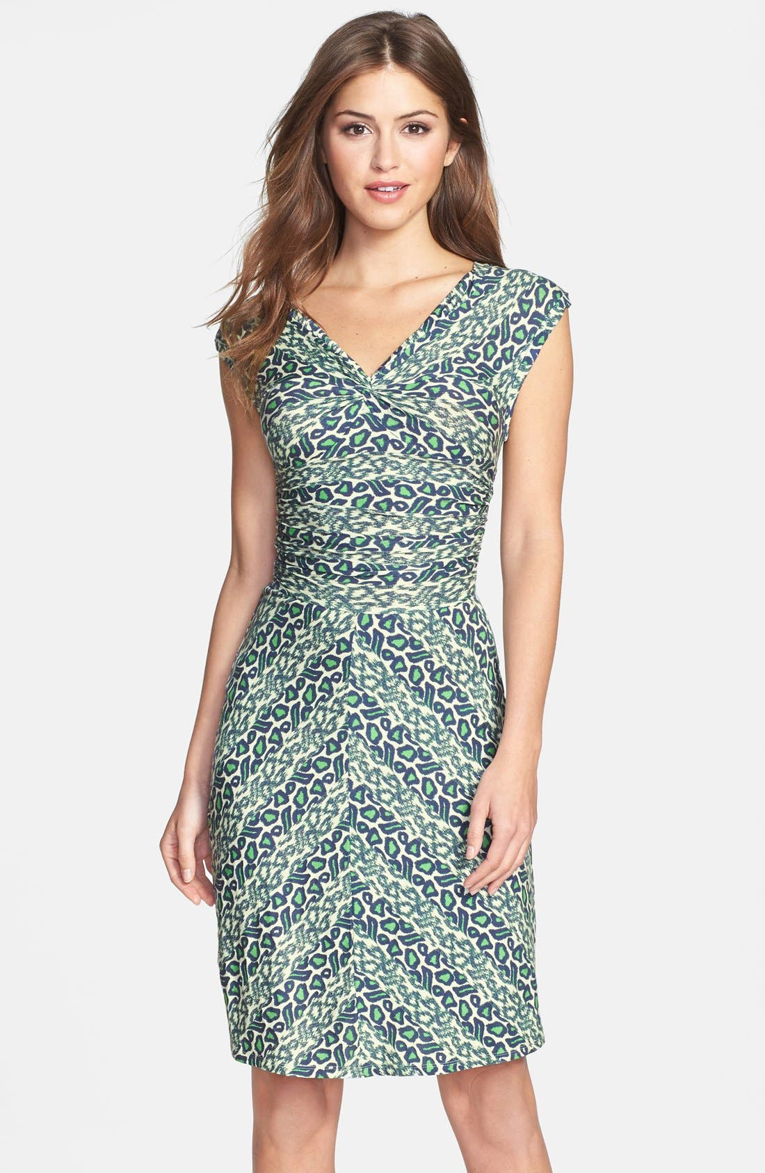 Alternate Image 1 Selected - Plenty by Tracy Reese 'Brooke' Print Knotted Jersey Sheath Dress