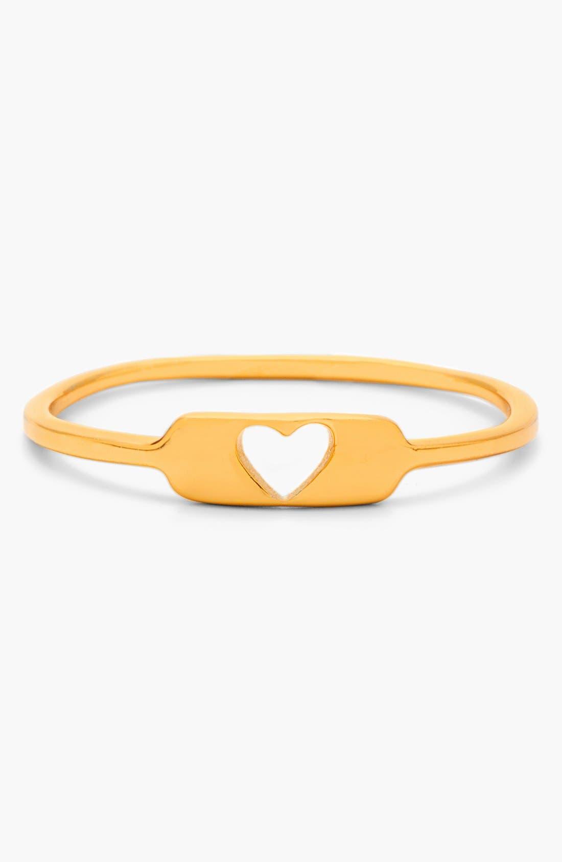 Main Image - gorjana 'Cutout Heart' Ring
