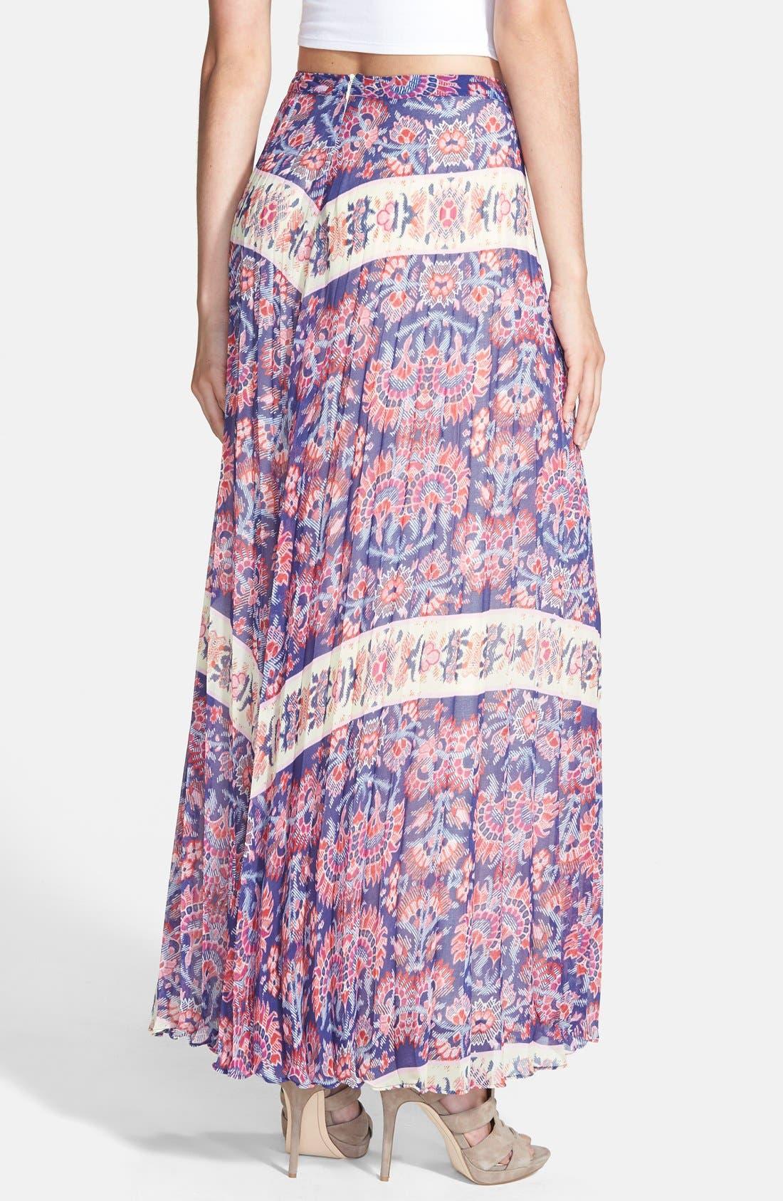 Alternate Image 2  - Like Mynded Pleat Maxi Skirt