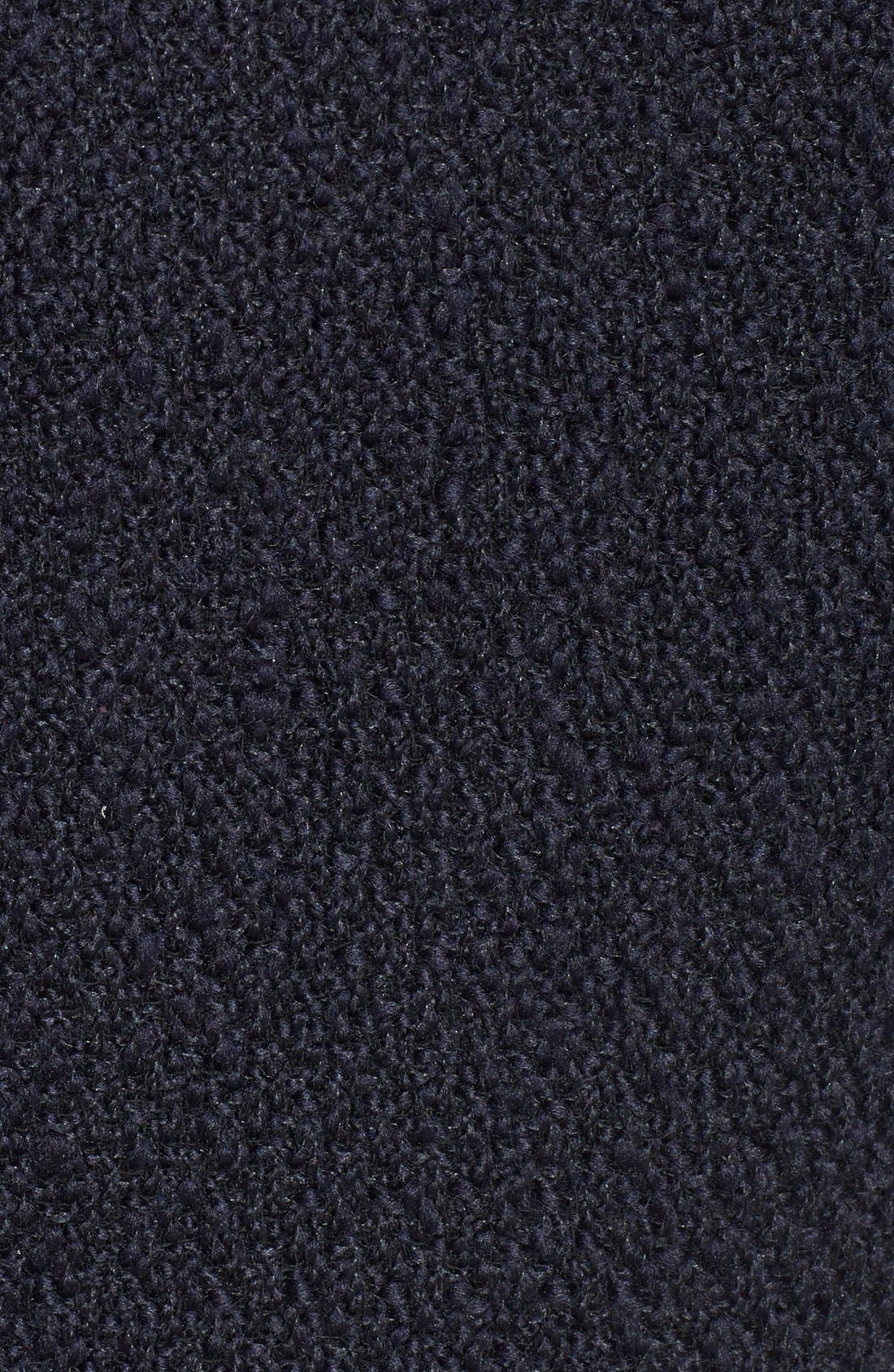 Alternate Image 4  - Calvin Klein Hooded Asymmetric Zip Bouclé Coat