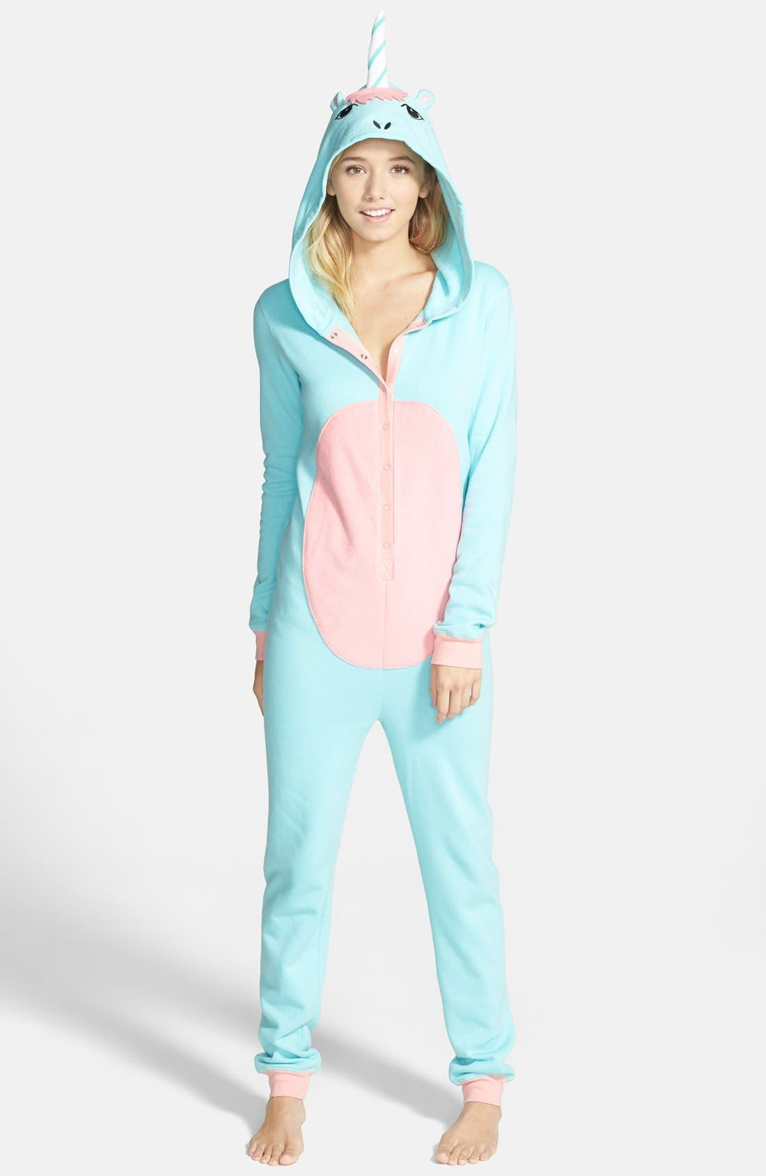 Alternate Image 1 Selected - BP. Undercover Unicorn Jumpsuit (Juniors)