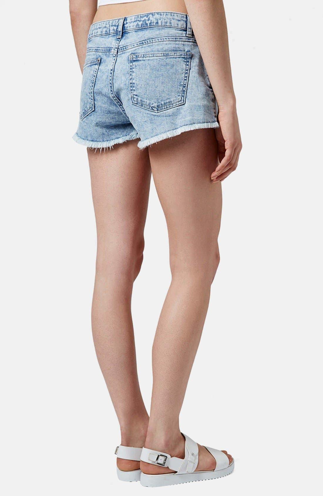 Alternate Image 2  - Topshop Moto 'Daisy' Denim Shorts (Light)