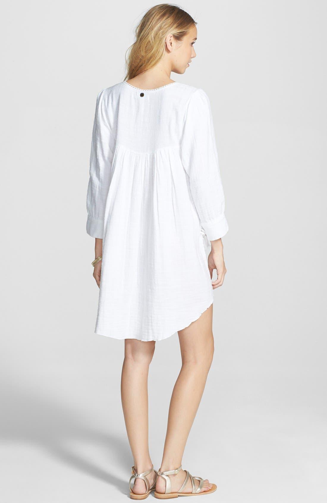Alternate Image 2  - Billabong 'Wils Bay Breeze' Bracelet Sleeve Babydoll Dress (Juniors)