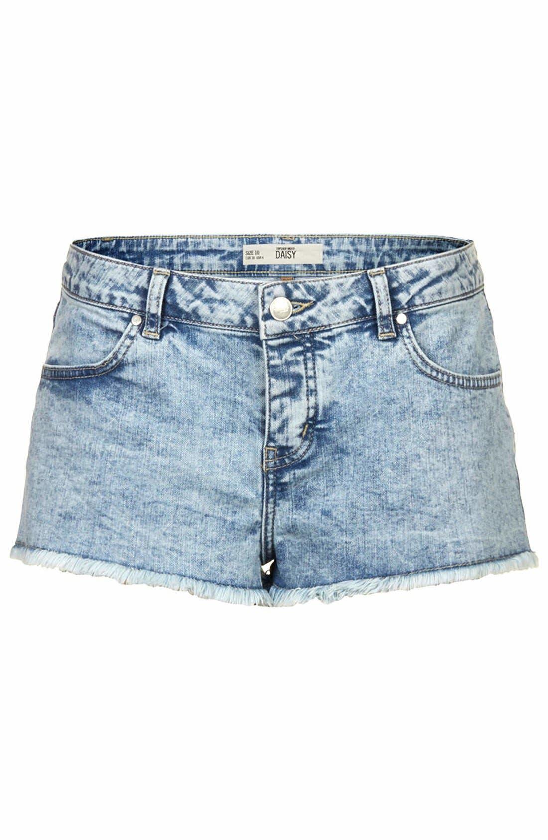 Alternate Image 3  - Topshop Moto 'Daisy' Denim Shorts (Light)
