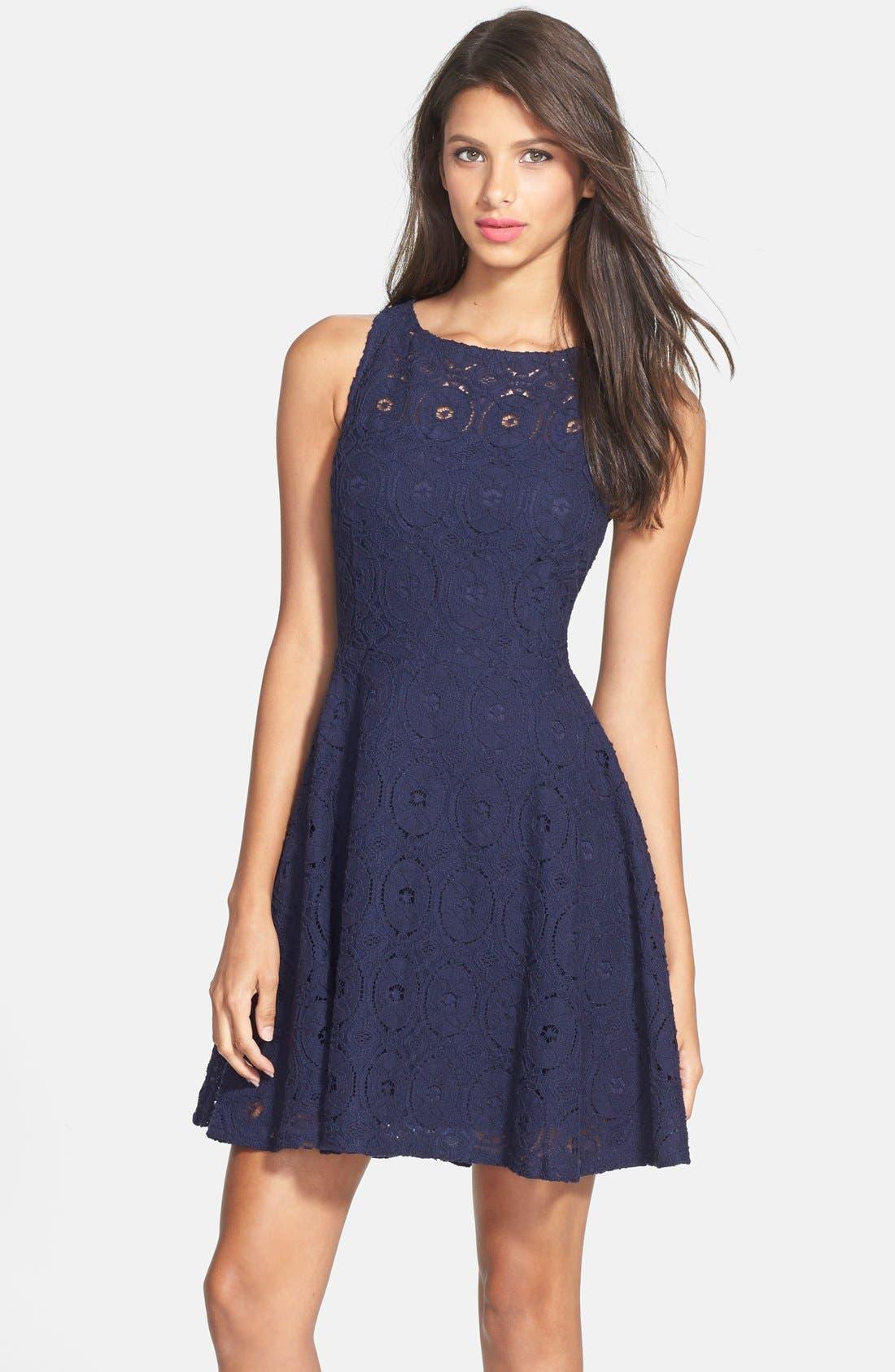 Dakota Renley Lace Fit Flare Dress Nordstrom