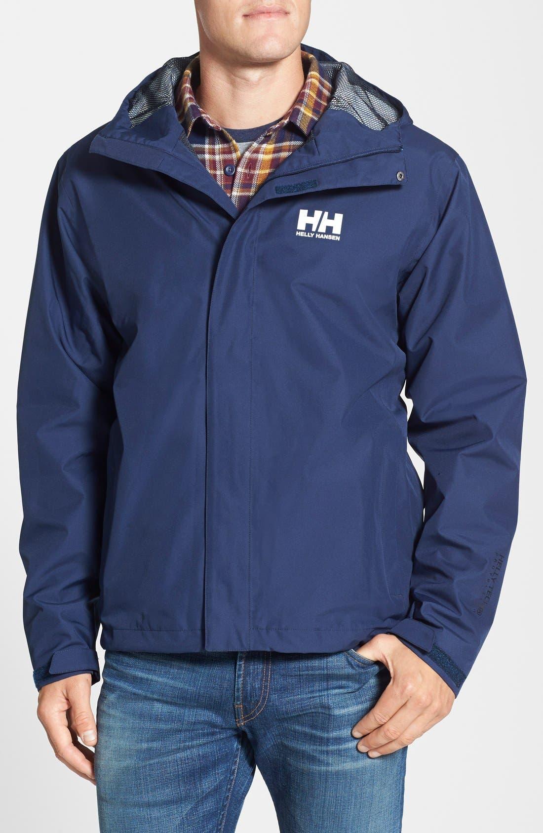 'Seven J' Waterproof & Windproof Jacket,                         Main,                         color, Evening Blue