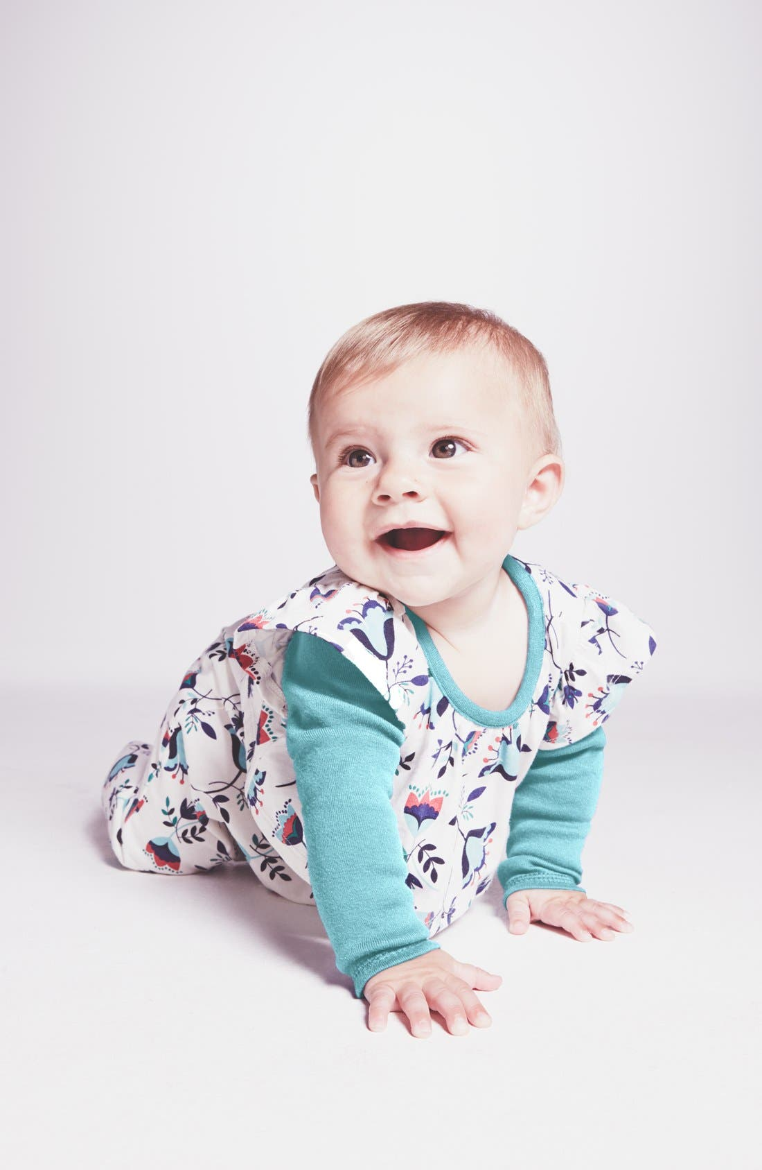 Main Image - Tea Collection 'Tulpenregen' Swing Romper (Baby Girls)