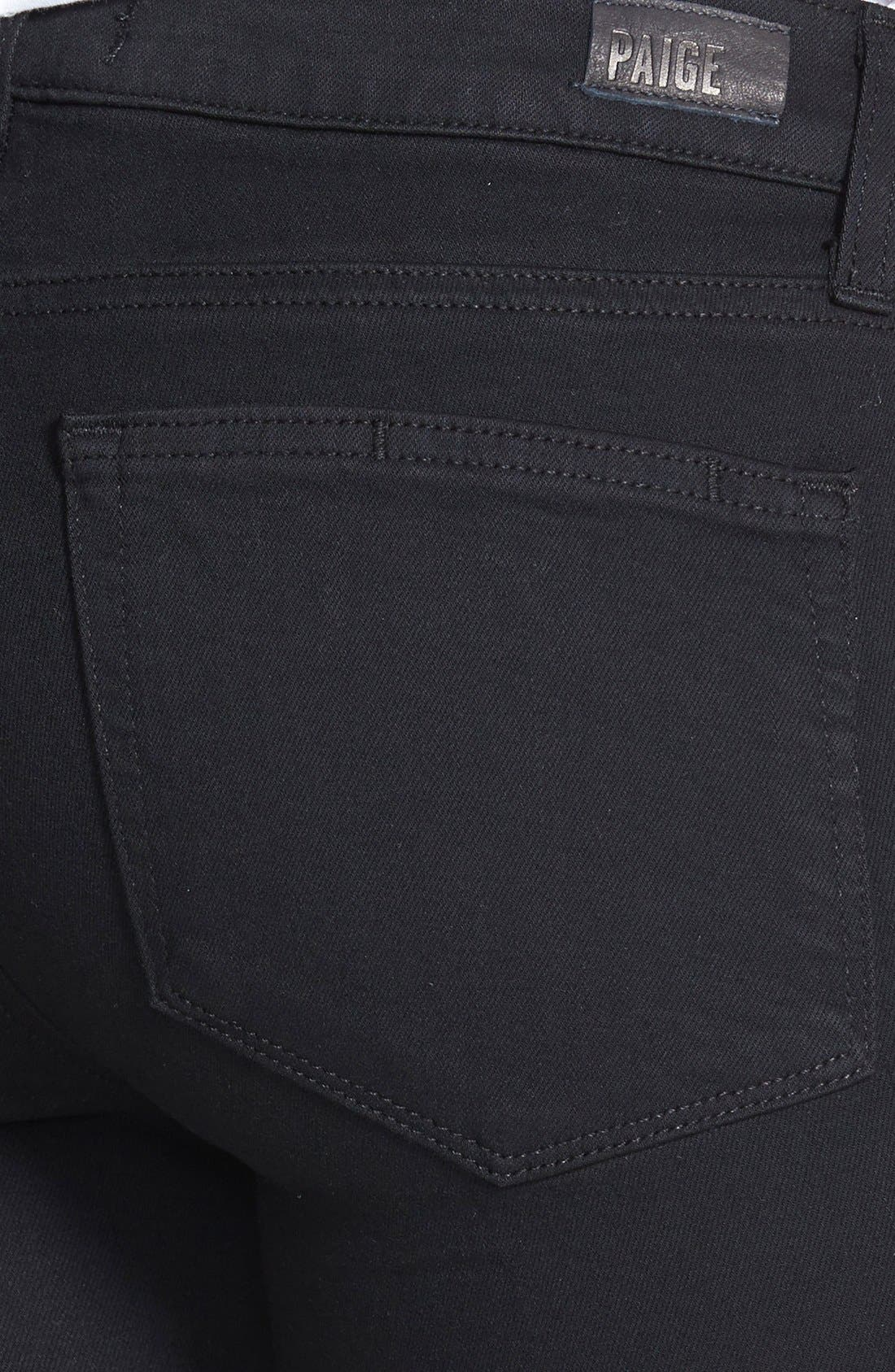Alternate Image 3  - PAIGE Transcend - Skyline Bootcut Jeans (Black Shadow)