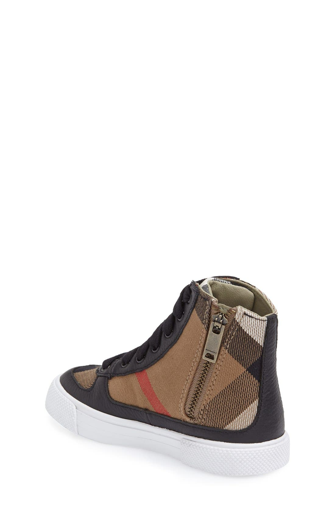 Alternate Image 2  - Burberry 'Merrison' High Top Sneaker (Walker, Toddler, Little Kid & Big Kid)