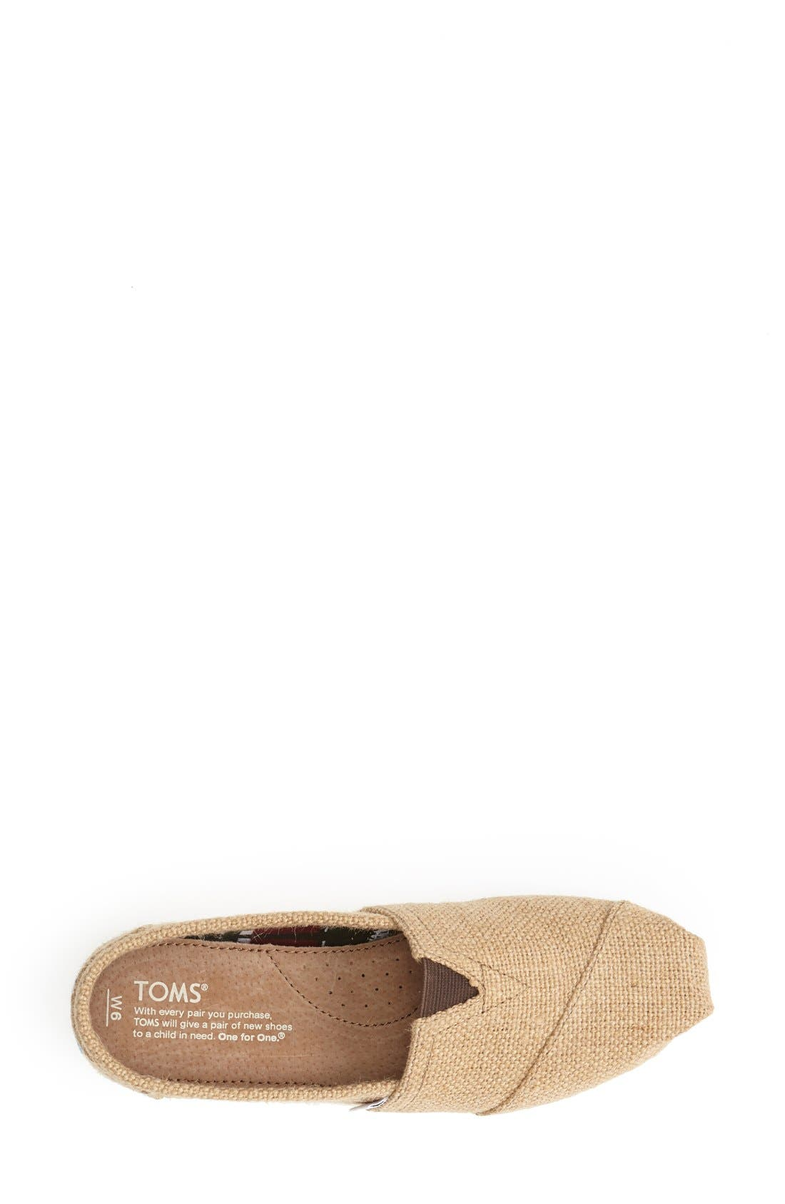 Alternate Image 3  - TOMS Burlap Slip-On (Women)