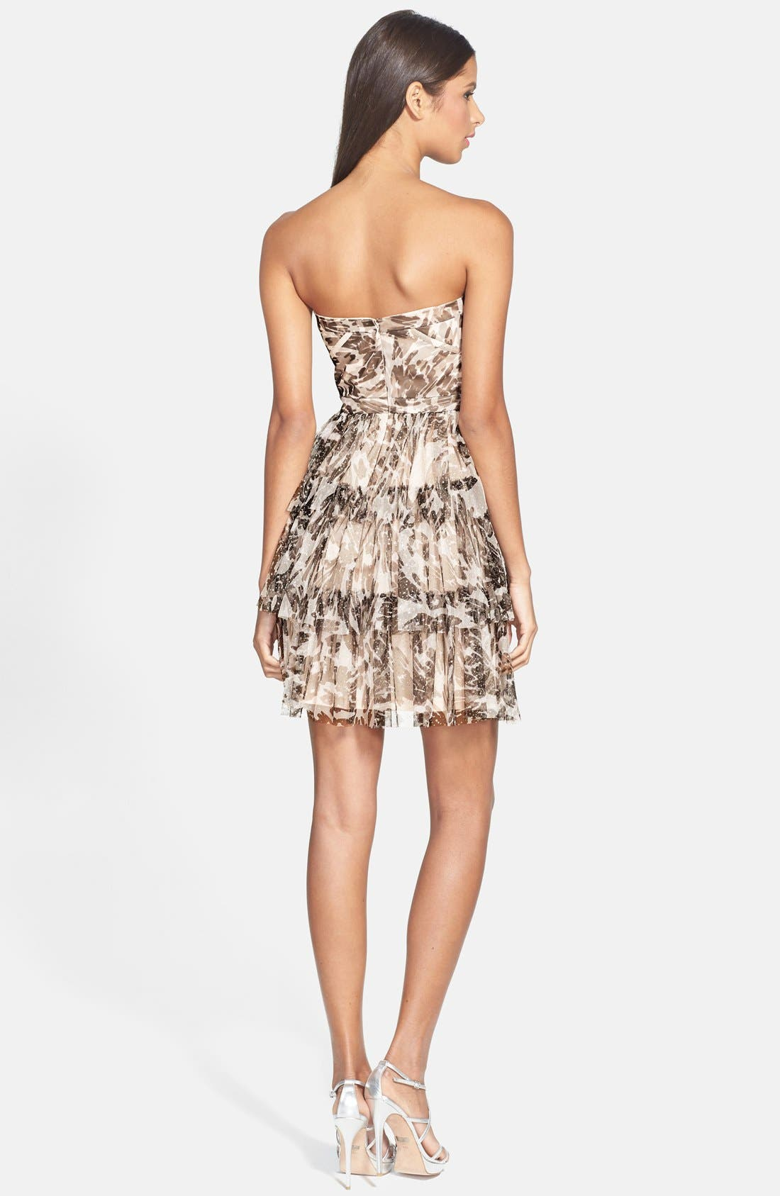 Alternate Image 2  - Hailey by Adrianna Papell Glitter Camo Print Tiered Dress