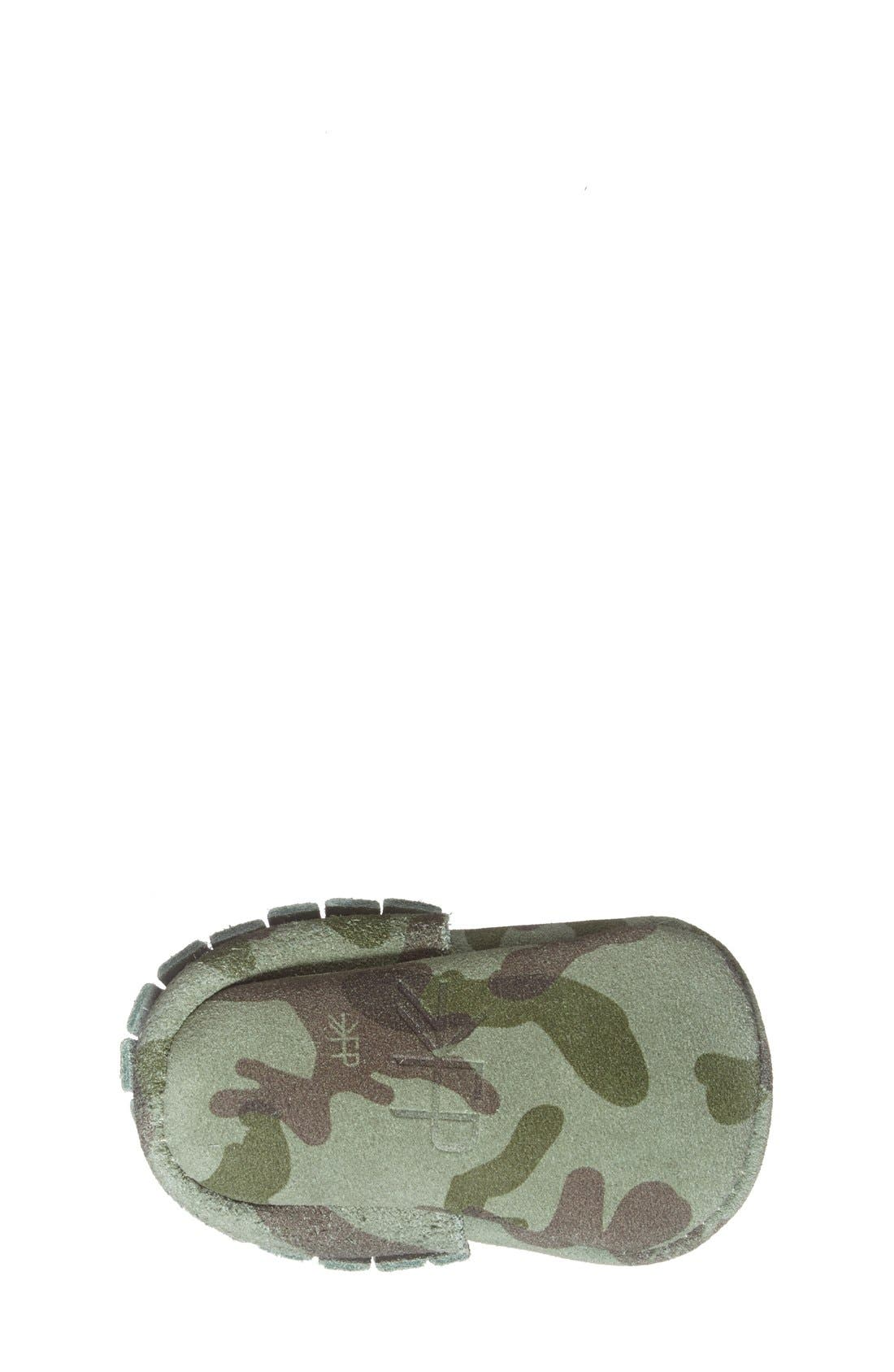 Alternate Image 4  - Freshly Picked Camo Print Suede Moccasin (Baby & Walker)