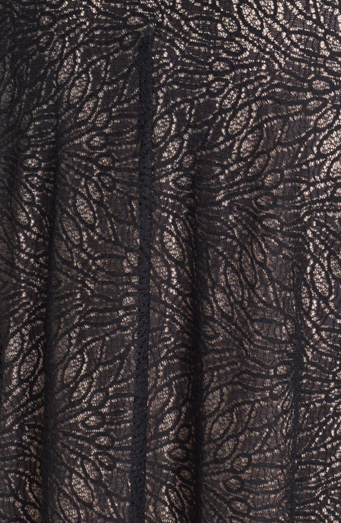 Alternate Image 4  - Adrianna Papell 'Converging' Banded Lace Dress (Plus Size)