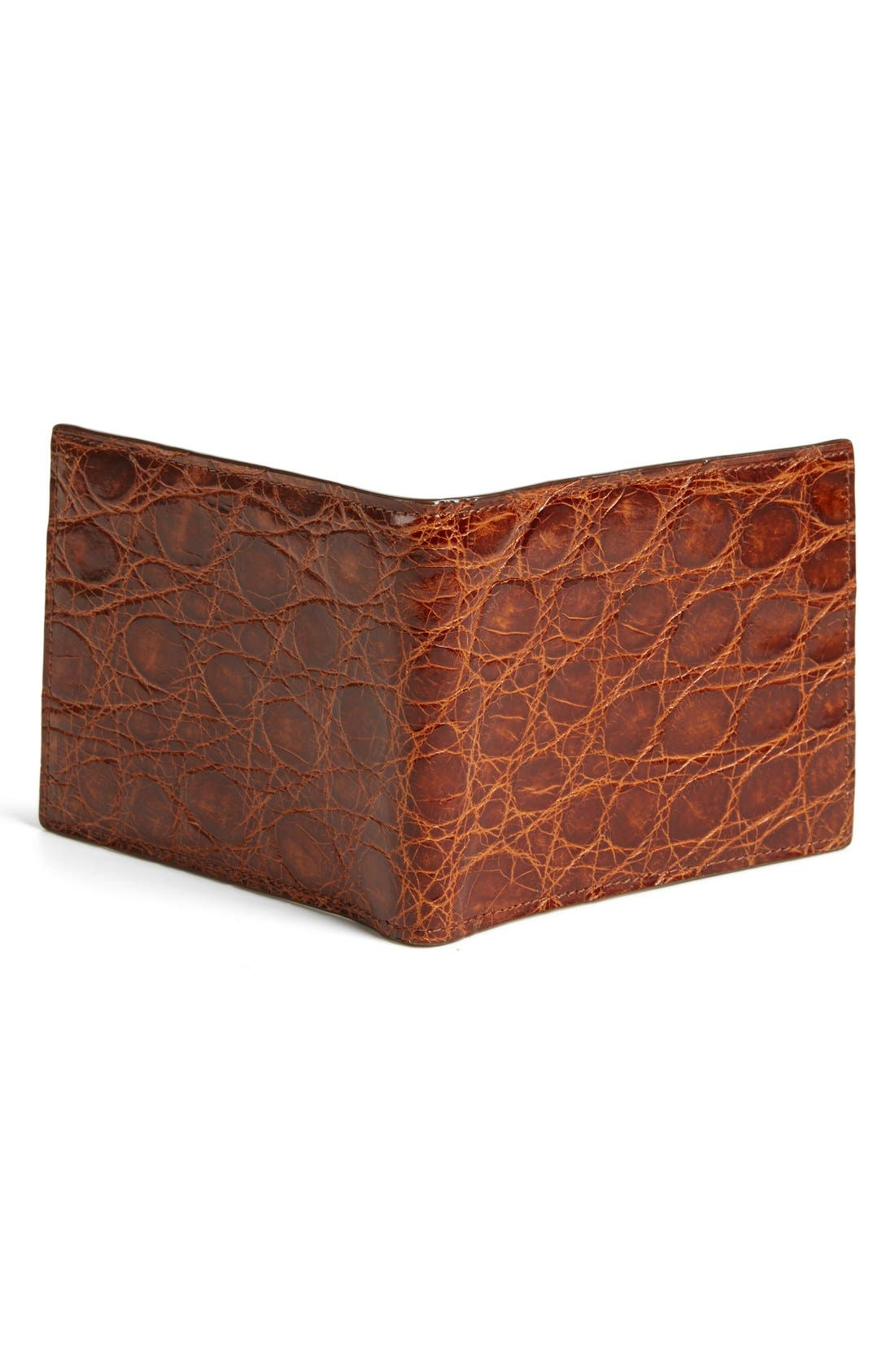 Alternate Image 3  - Boconi Glazed Genuine Crocodile Wallet