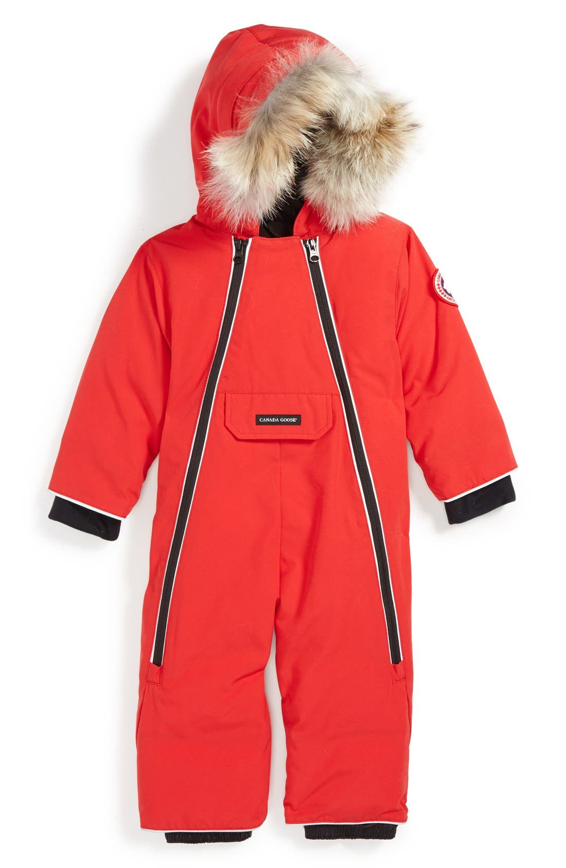 Main Image - Canada Goose 'Lamb' Down Snowsuit with Genuine Coyote Fur Trim (Baby Girls)