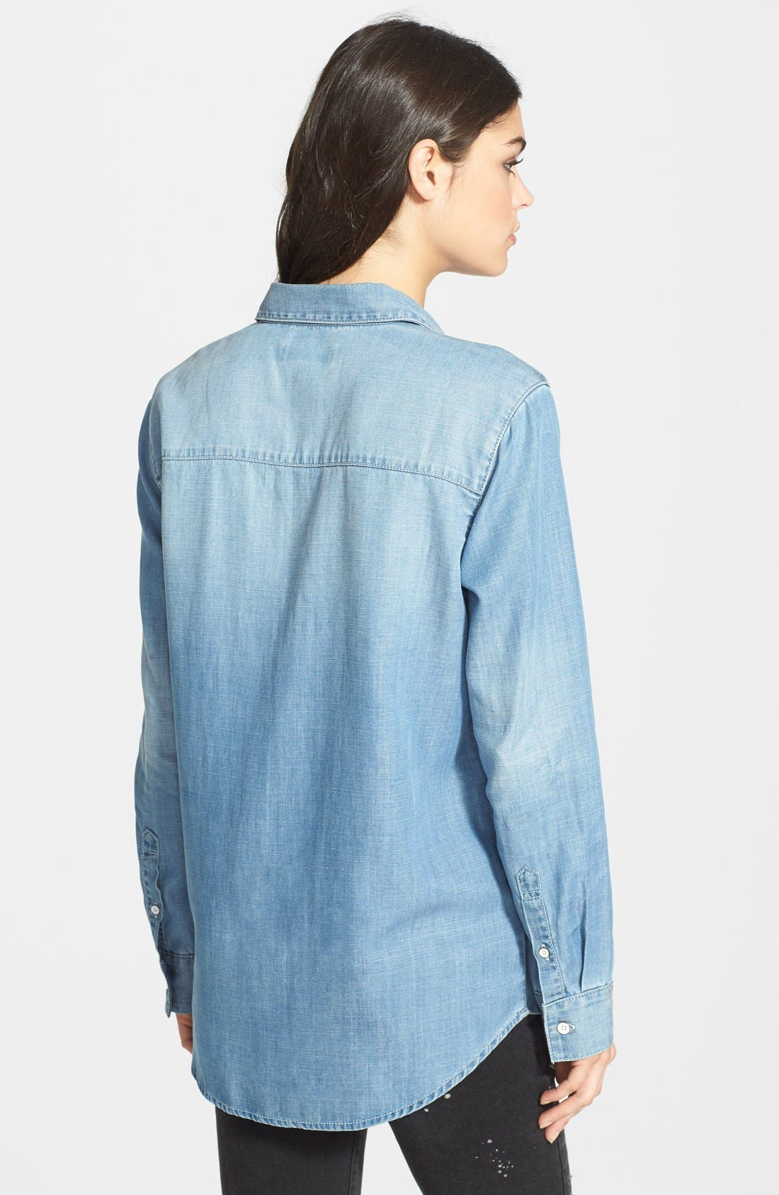 Alternate Image 2  - Treasure&Bond Boyfriend Fit Denim Shirt