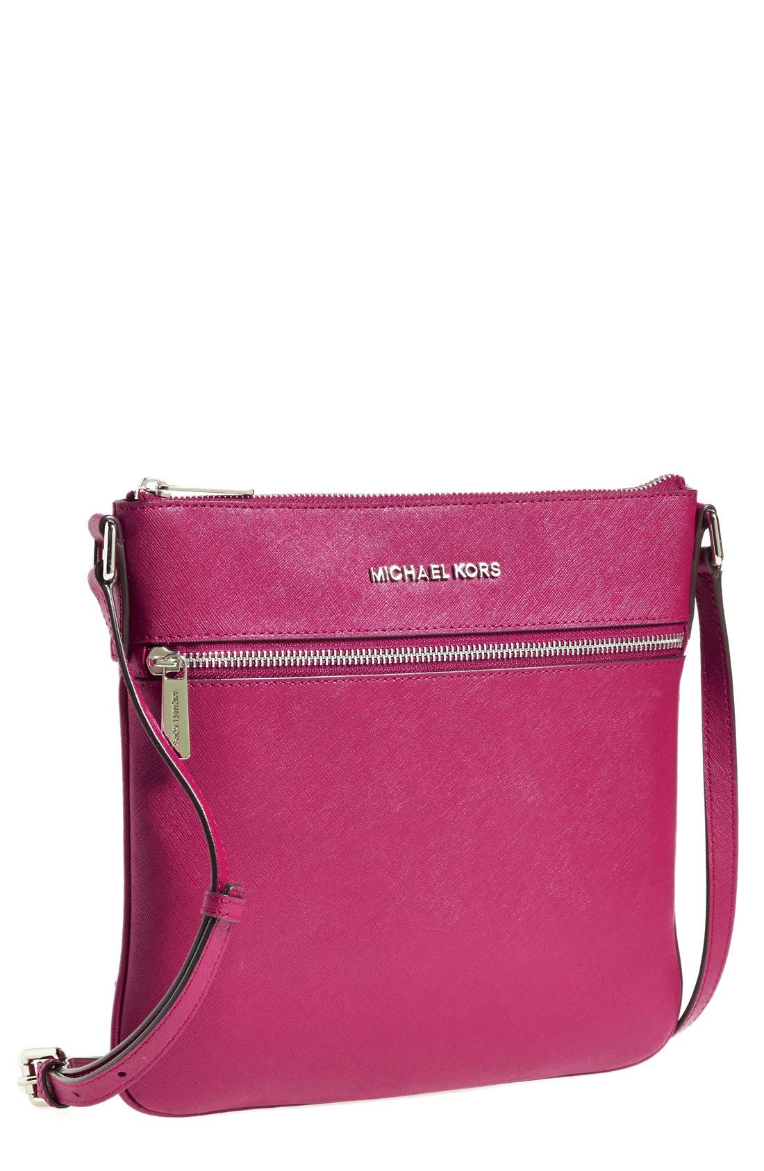 Main Image - MICHAEL Michael Kors 'Bedford' Saffiano Leather Crossbody Bag (Nordstrom Exclusive)