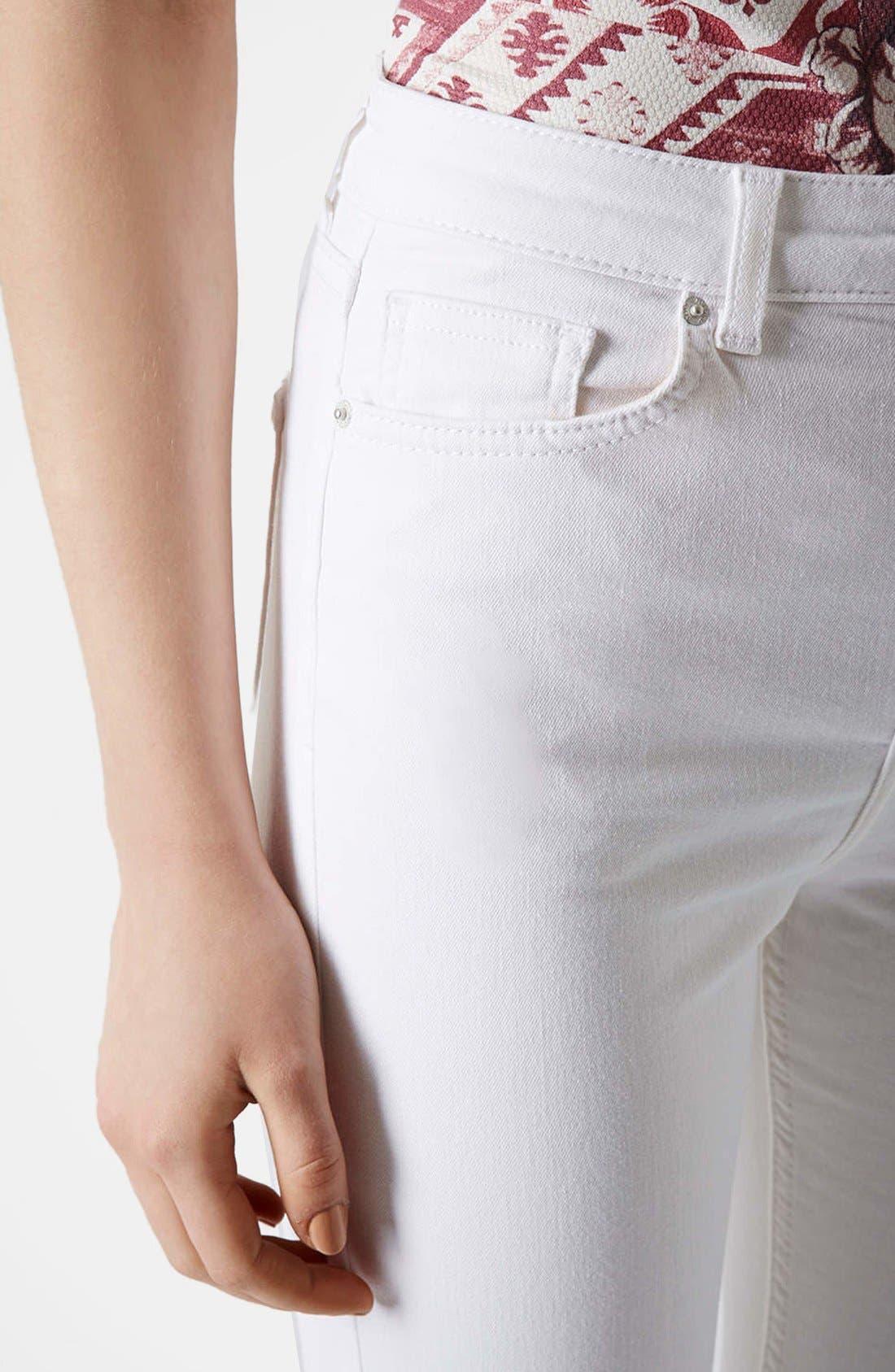 Alternate Image 4  - Topshop Moto 'Jamie' Skinny Jeans (Regular & Short)