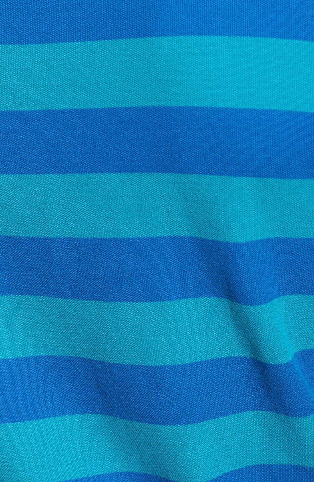 Two-Tone Stripe Piqué Polo,                             Alternate thumbnail 3, color,                             Biscay Bay