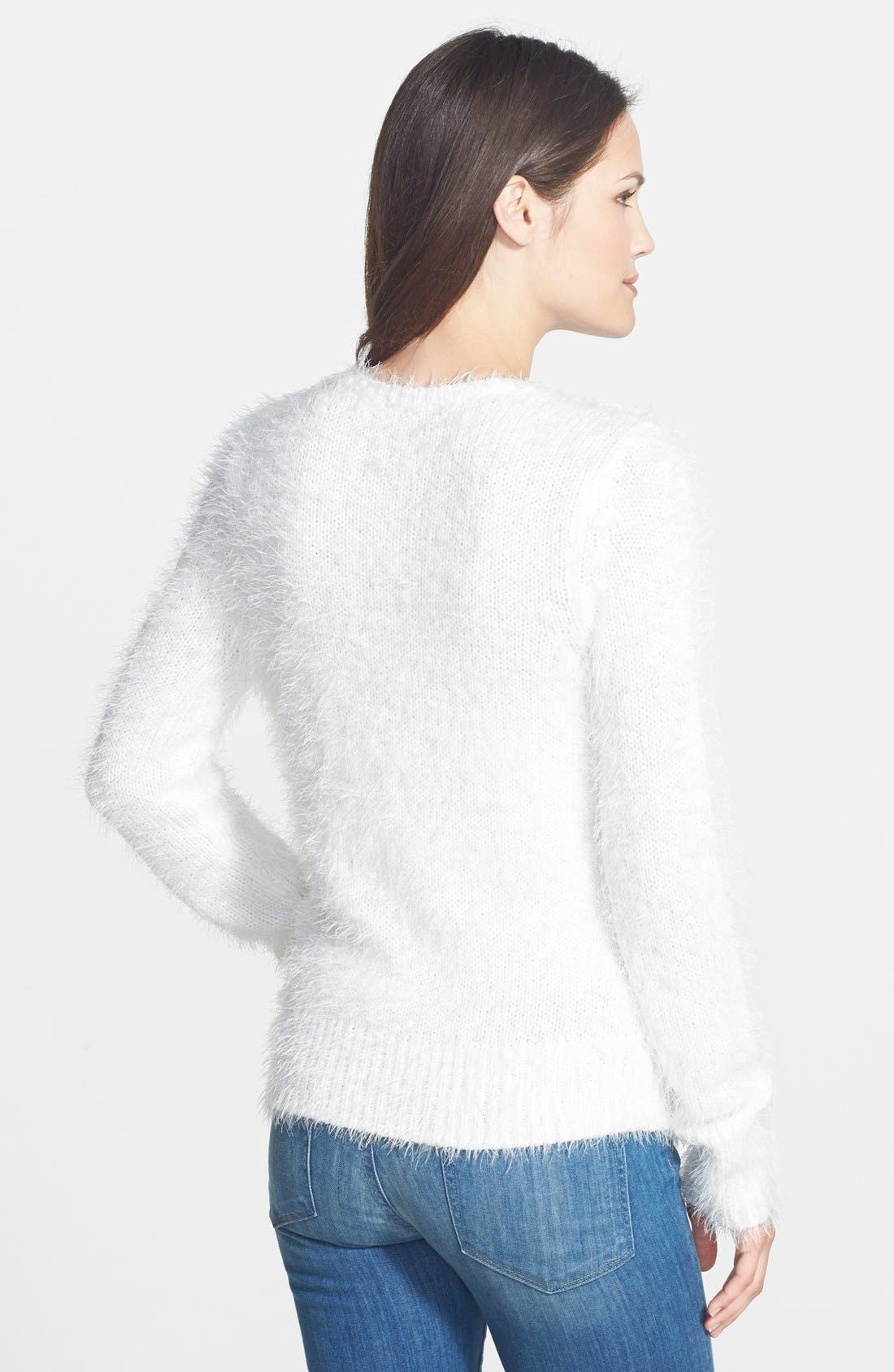 Alternate Image 2  - Halogen® Eyelash Knit Crewneck Sweater