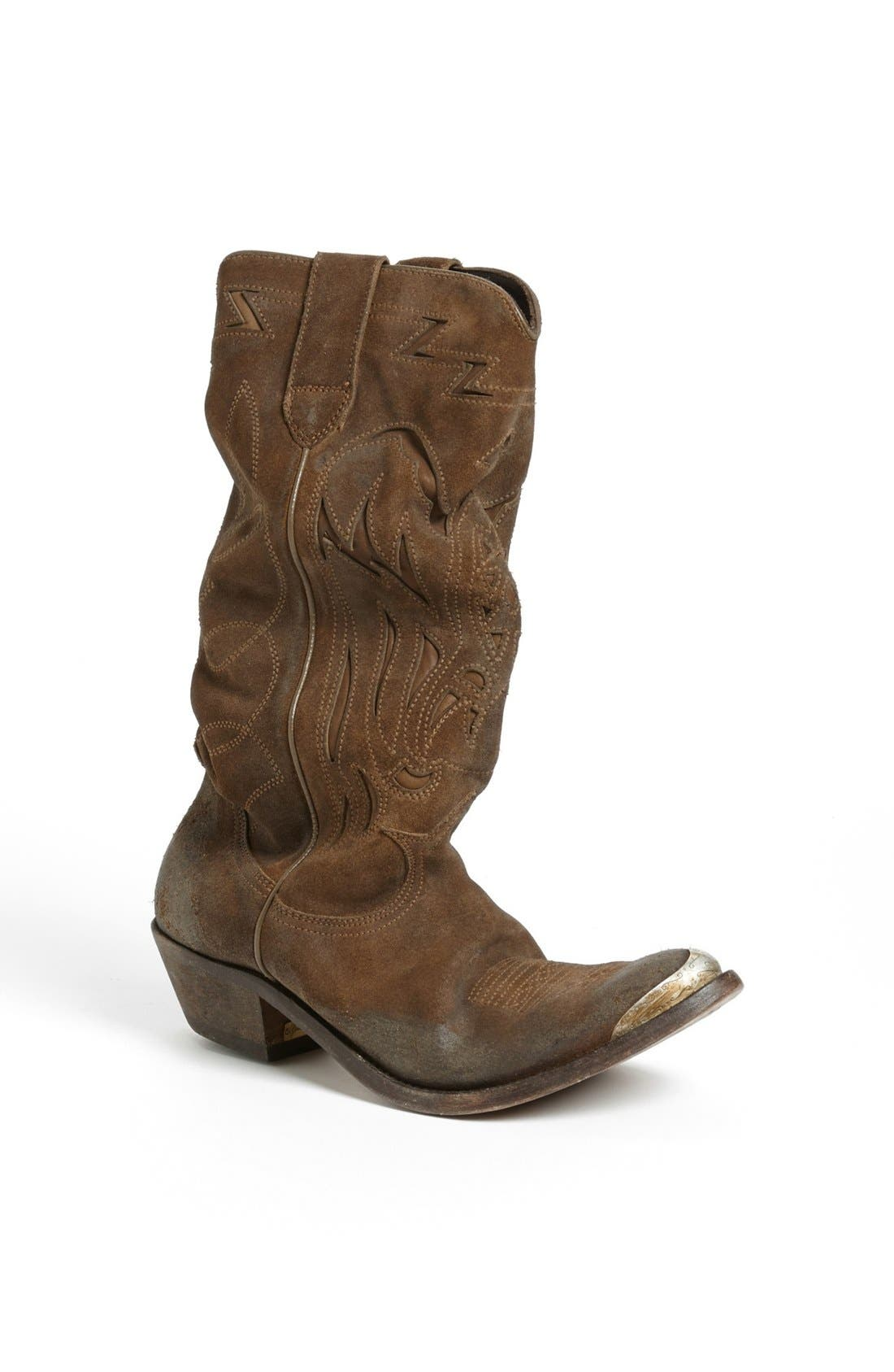 Main Image - Golden Goose 'Flying' Distressed Western Boot