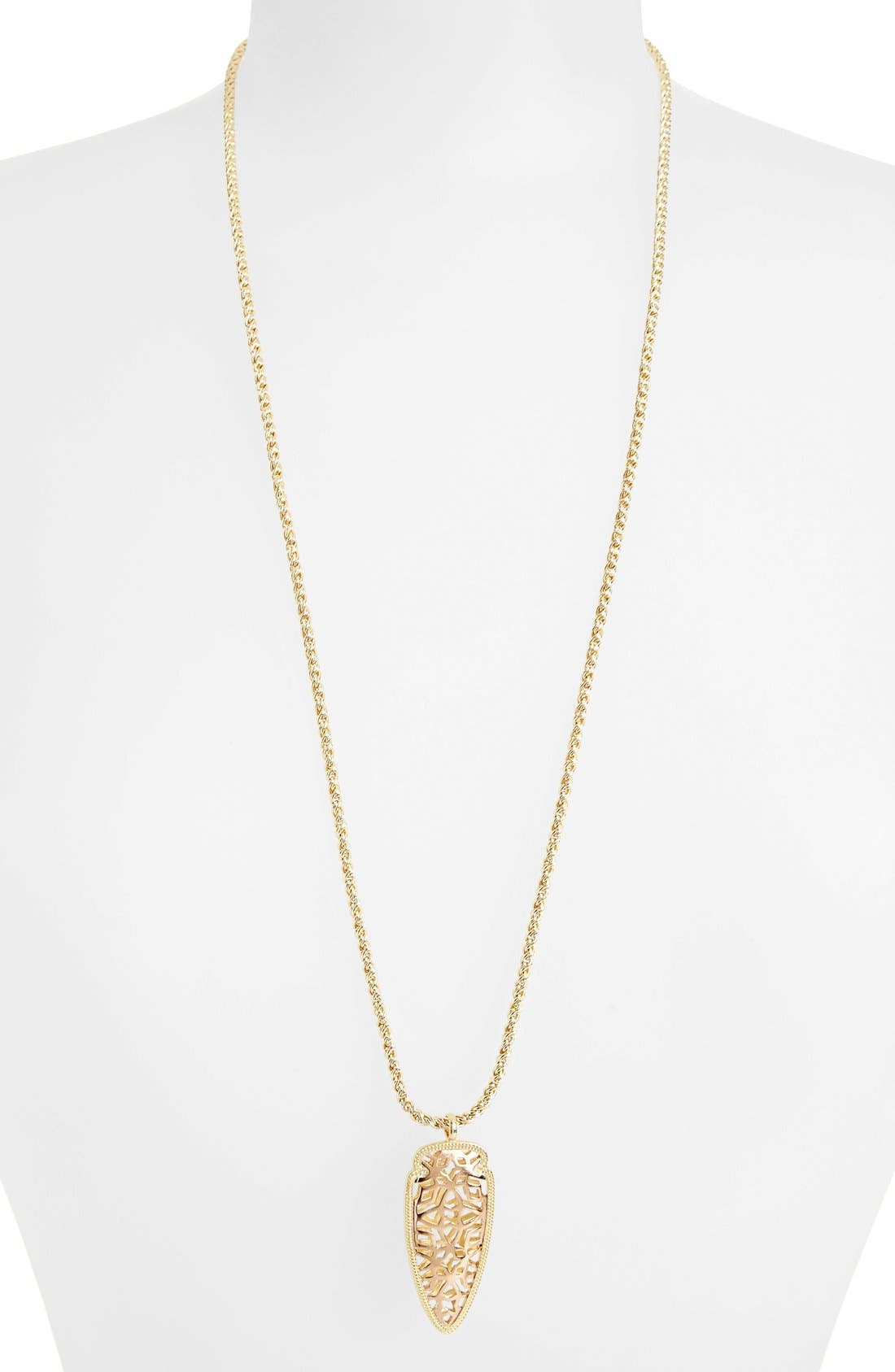 Main Image - Kendra Scott 'Glam Rocks - Sienna' Pendant Necklace
